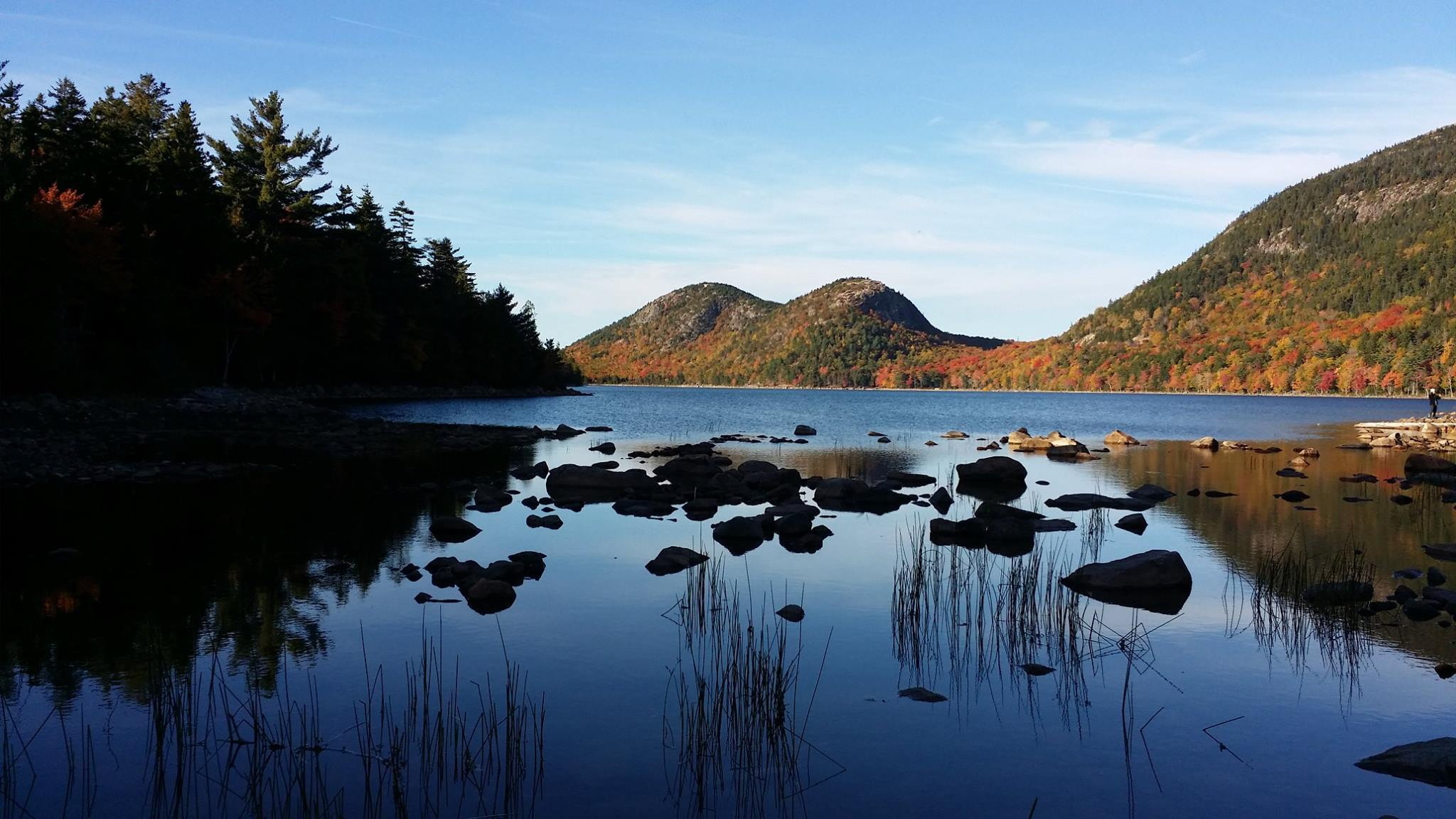 Jordan Pond a special fall experience at Acadia National Park