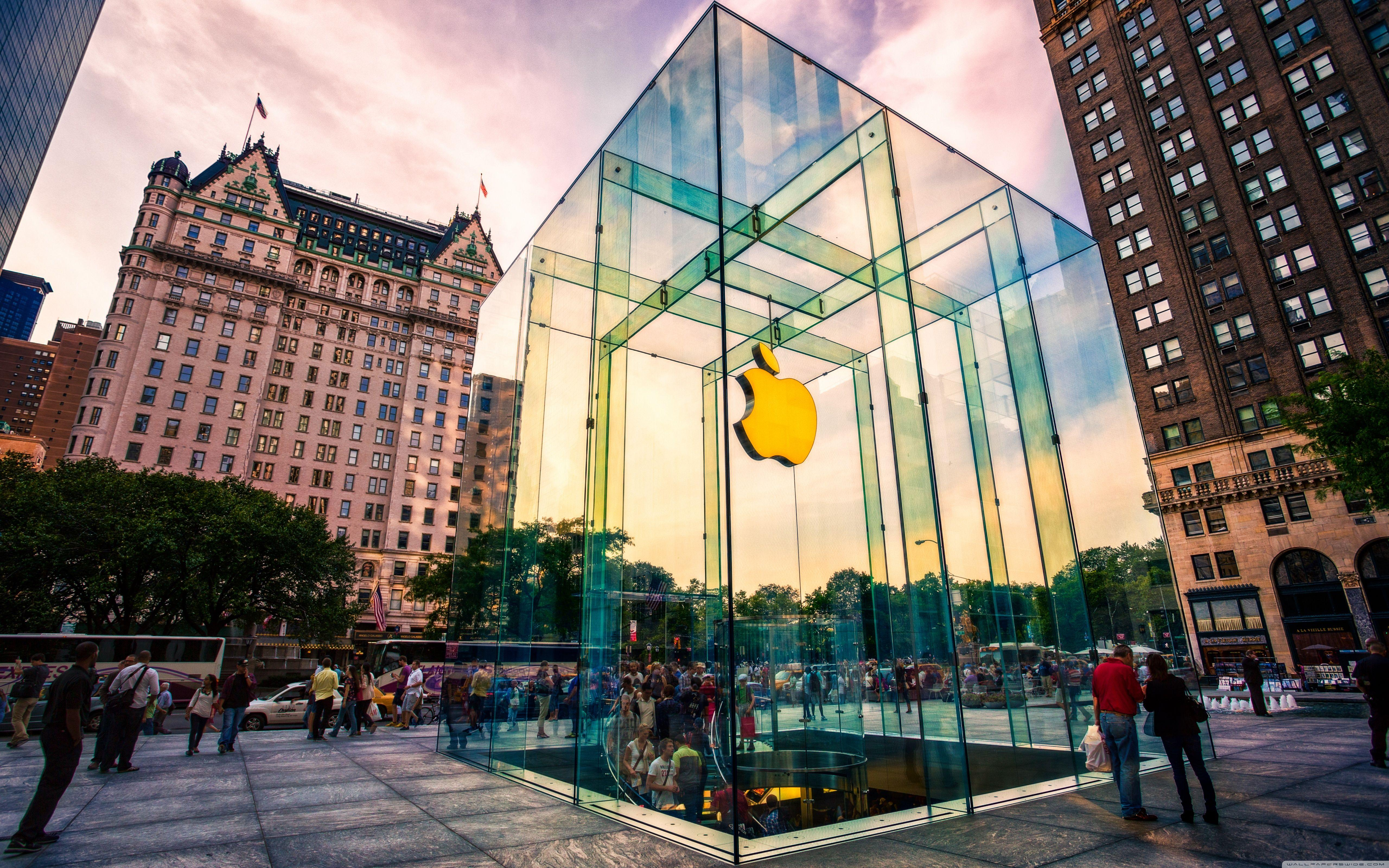 Apple Store NYC HD desktop wallpaper : Widescreen : High ...