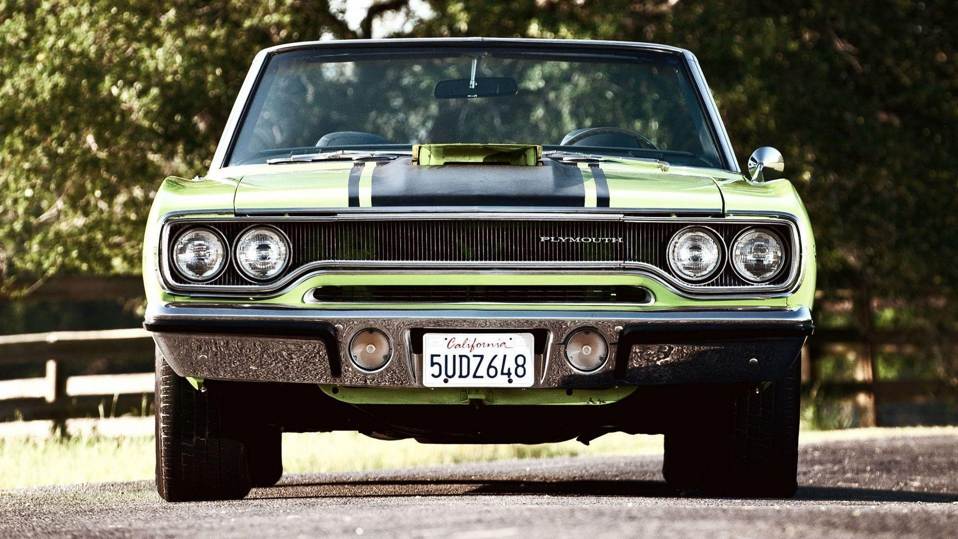 car wallpapers green plymouth road runner convertible muscle car ...