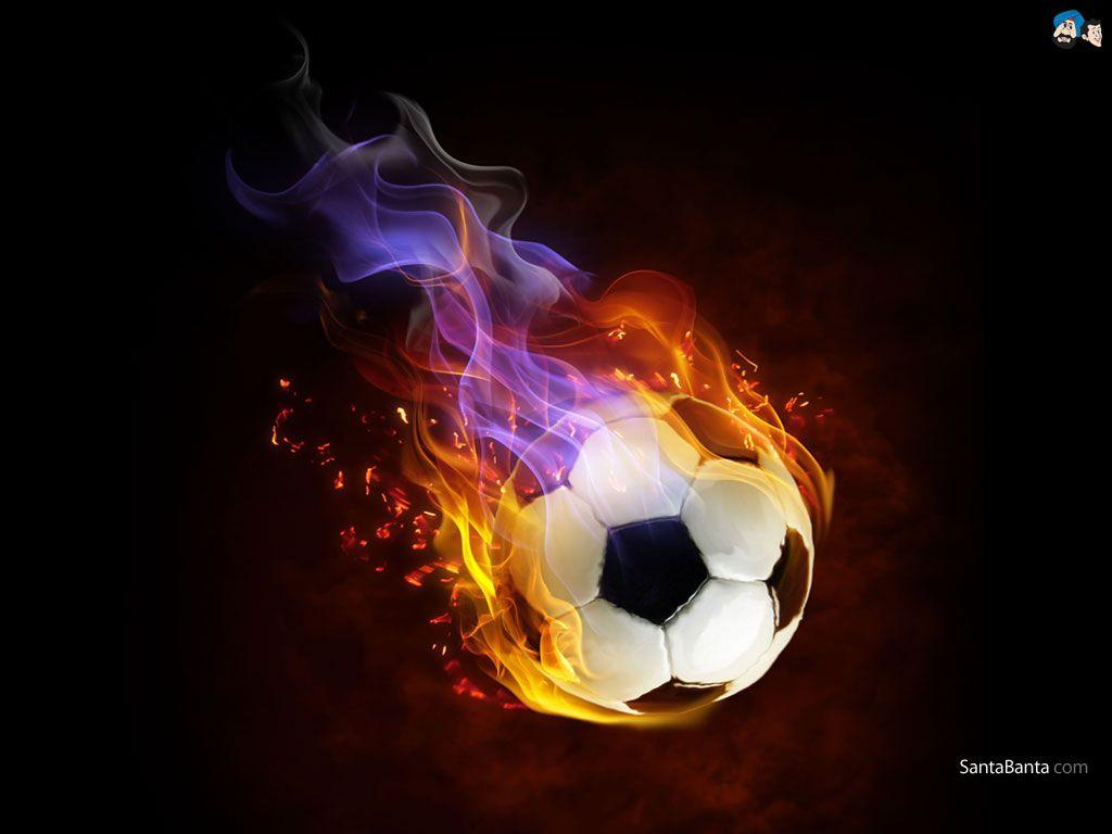 Flaming Soccer Ball Wallpaper - WallpaperSafari
