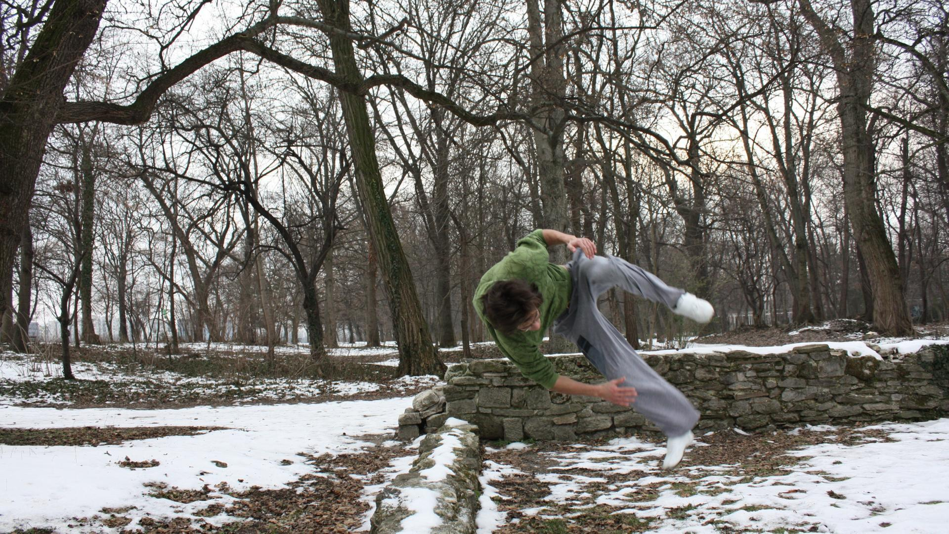 Snow parkour freerunning flip wallpaper | (30877)