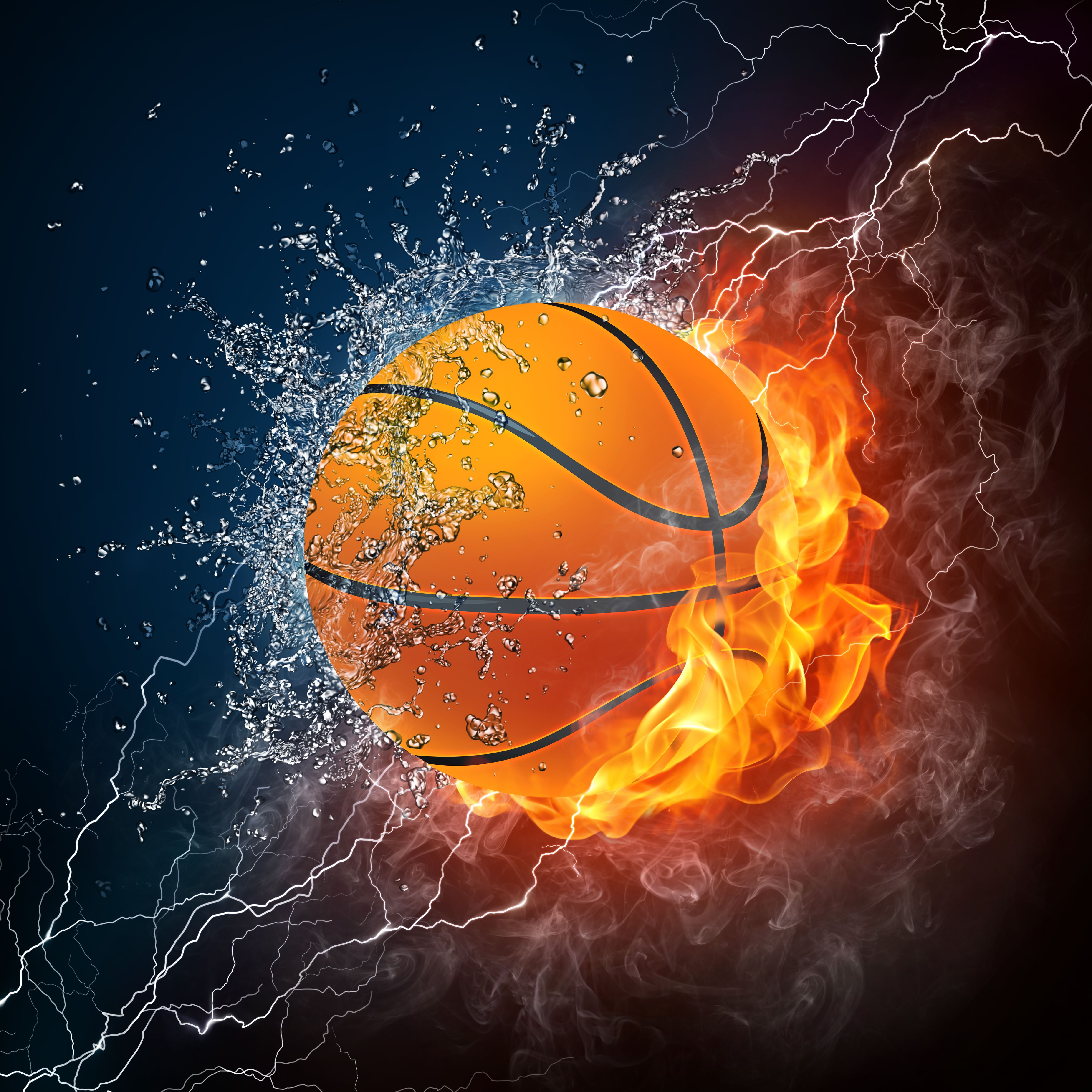 Basketball ball in a fire HD Wallpaper in high defination ...