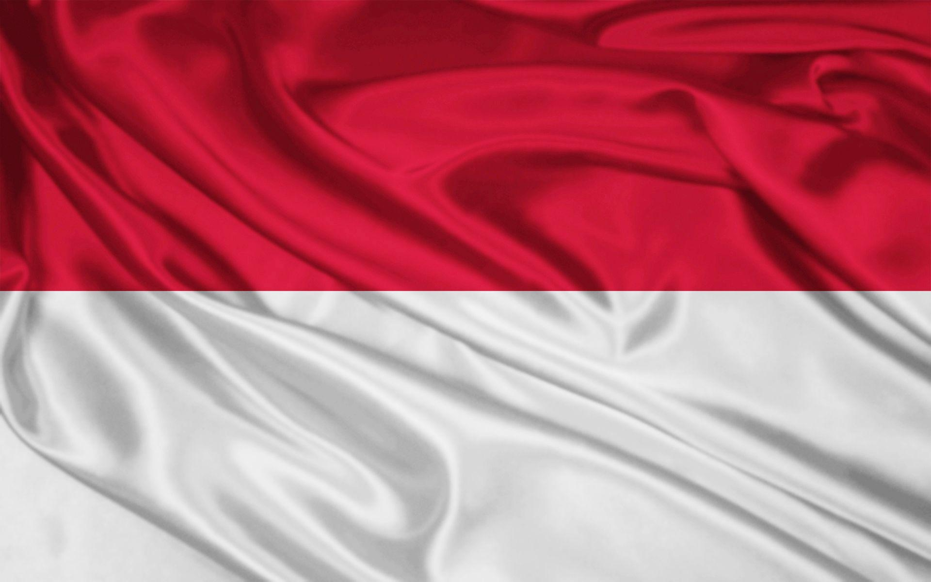 Monaco Flag and Indonesian Flag - wallpaper.
