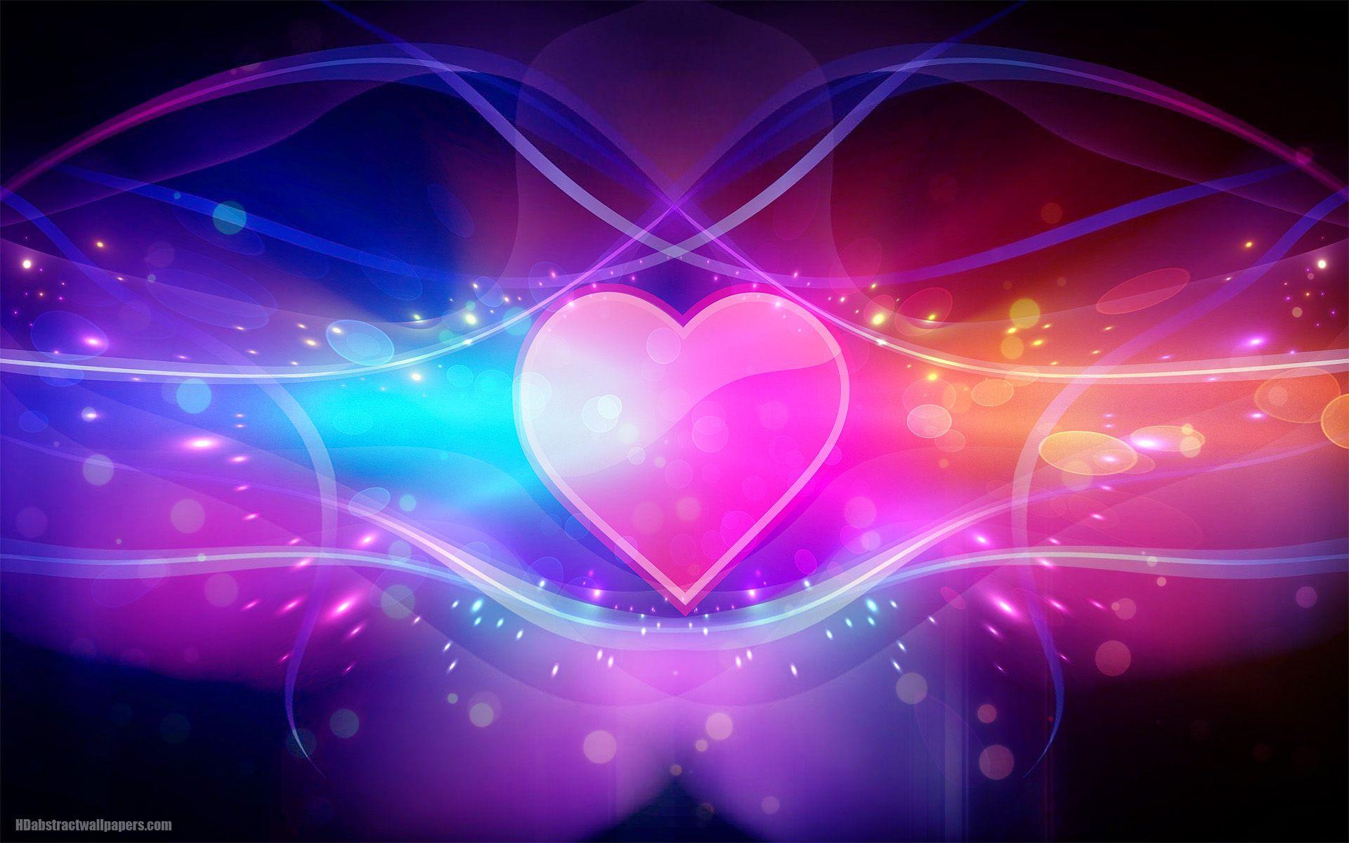 Colorful abstract wallpaper with pink love heart | HD Abstract ...