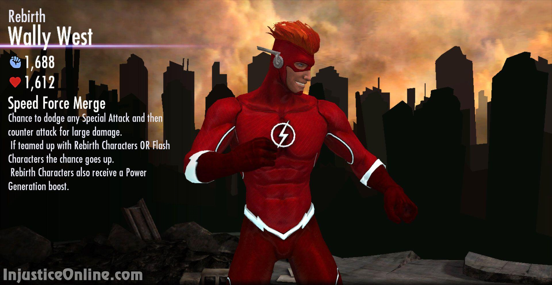 Rebirth Wally West Multiplayer Challenge For Injustice Mobile
