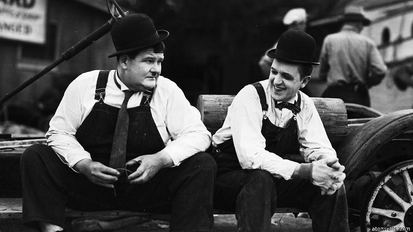 laurel and hardy friends HD wallpaper download