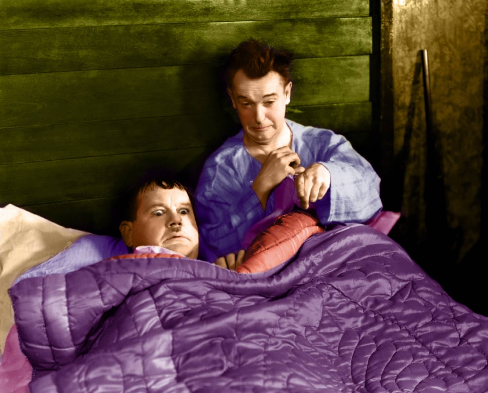 laurel & hardy in color - laurel and hardy Picture