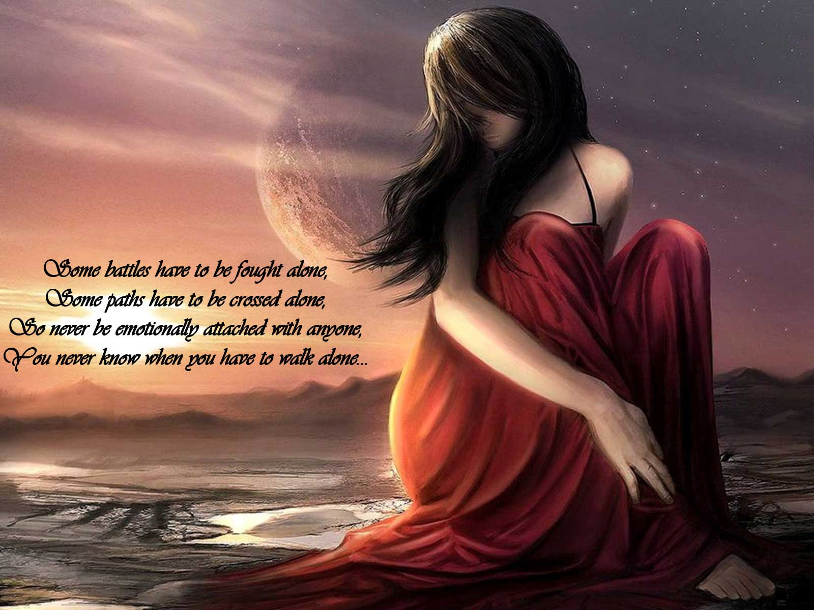 Free Download 30 HD Sad Wallpapers With Quotes