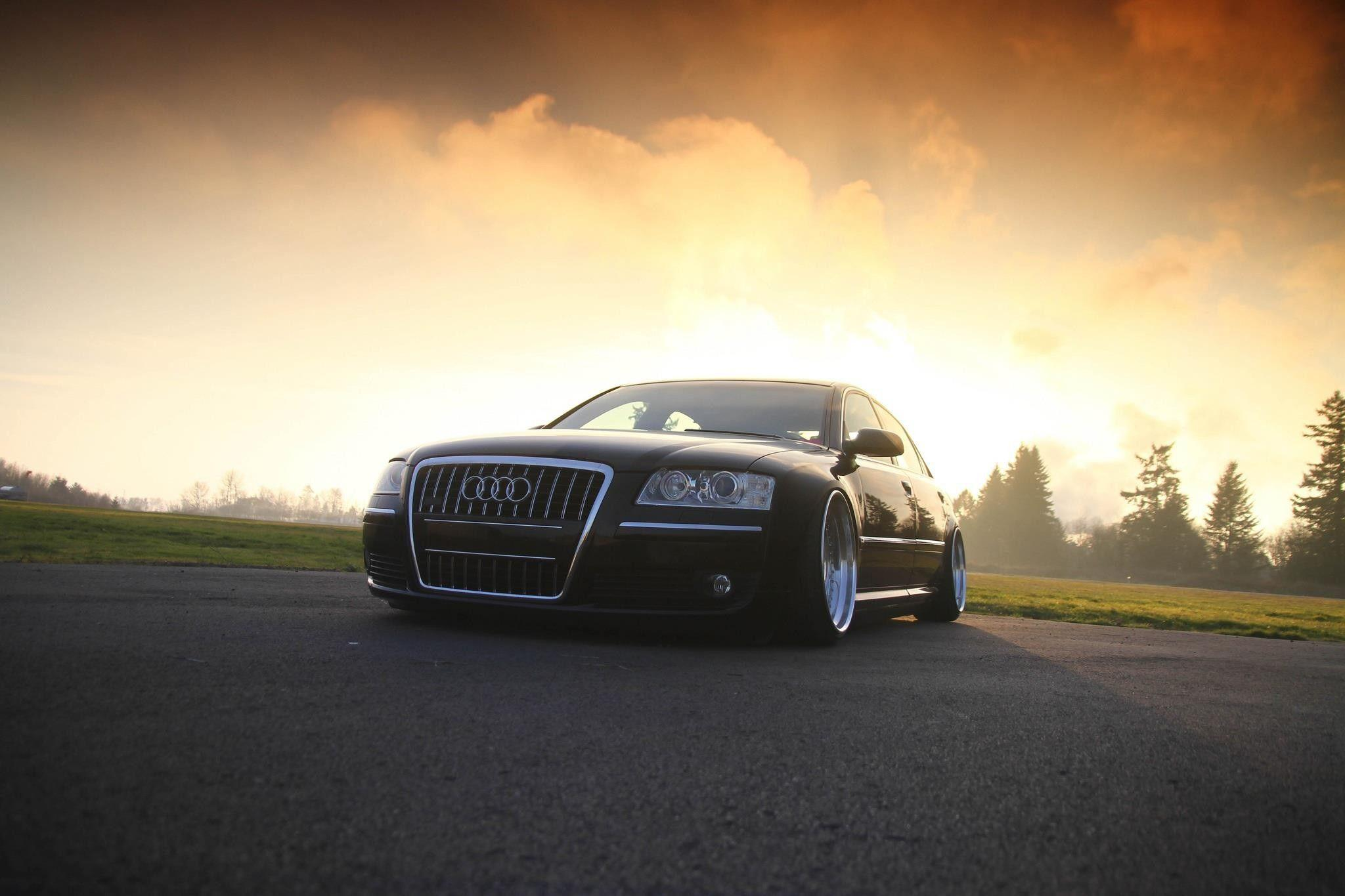 cars, stance, Hella Flush, Audi S8, low :: Wallpapers