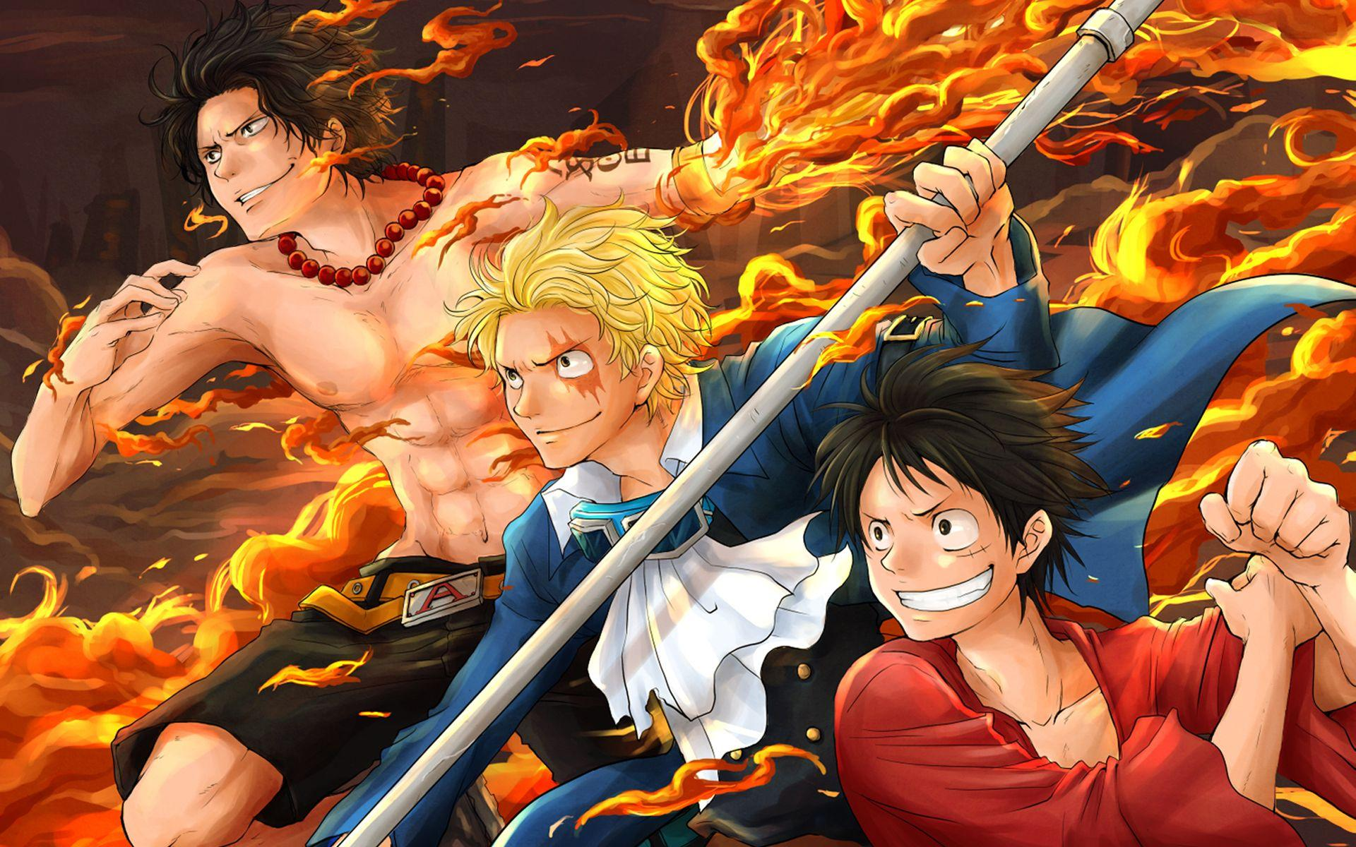 Sabo,Ace and Luffy Full HD Wallpapers and Backgrounds