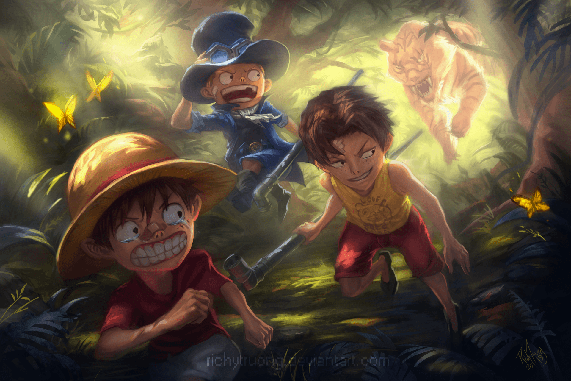 Luffy, Ace and Sabo Full HD Wallpapers and Backgrounds