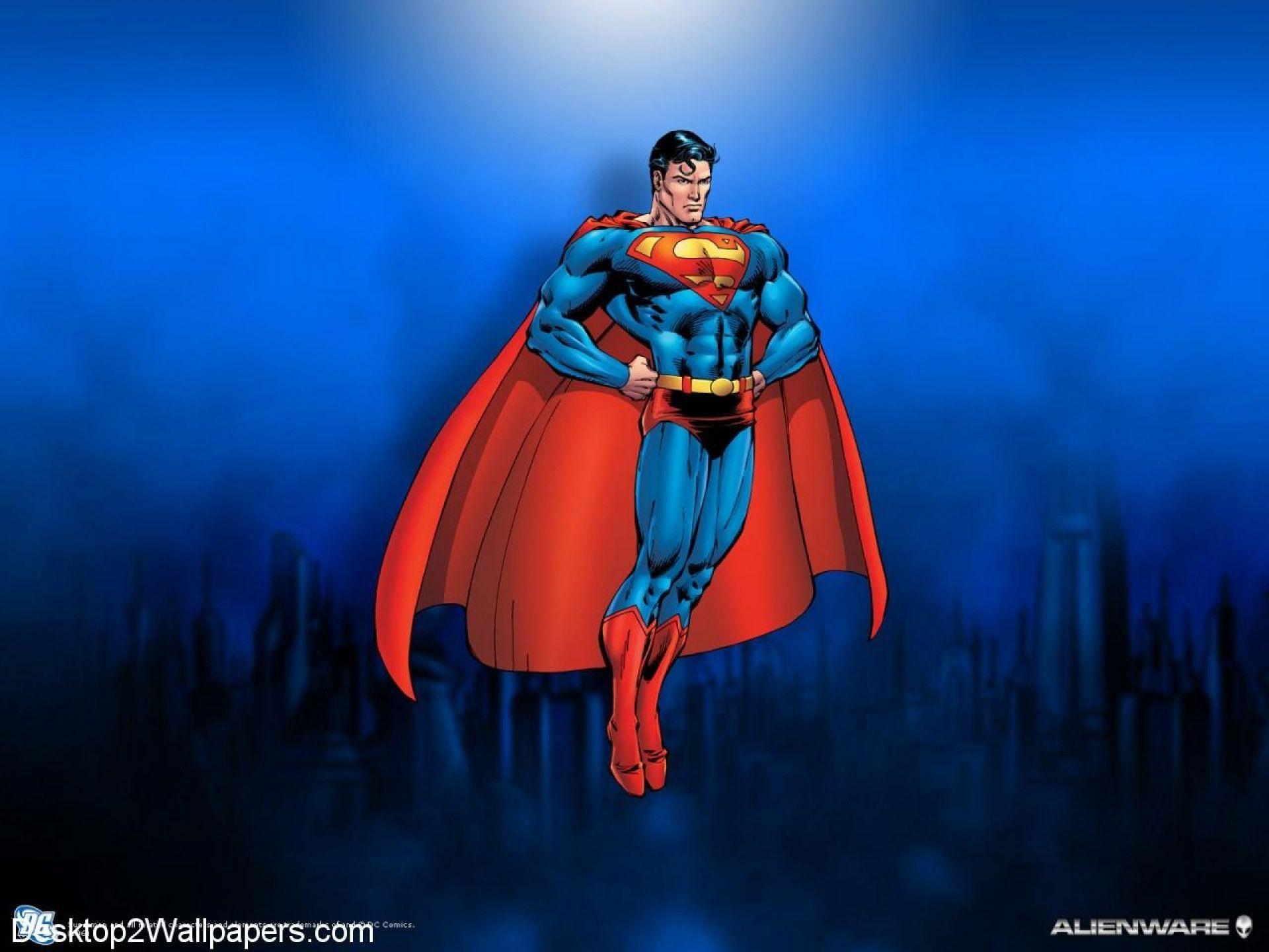 superman cartoon wallpapers wallpaper cave