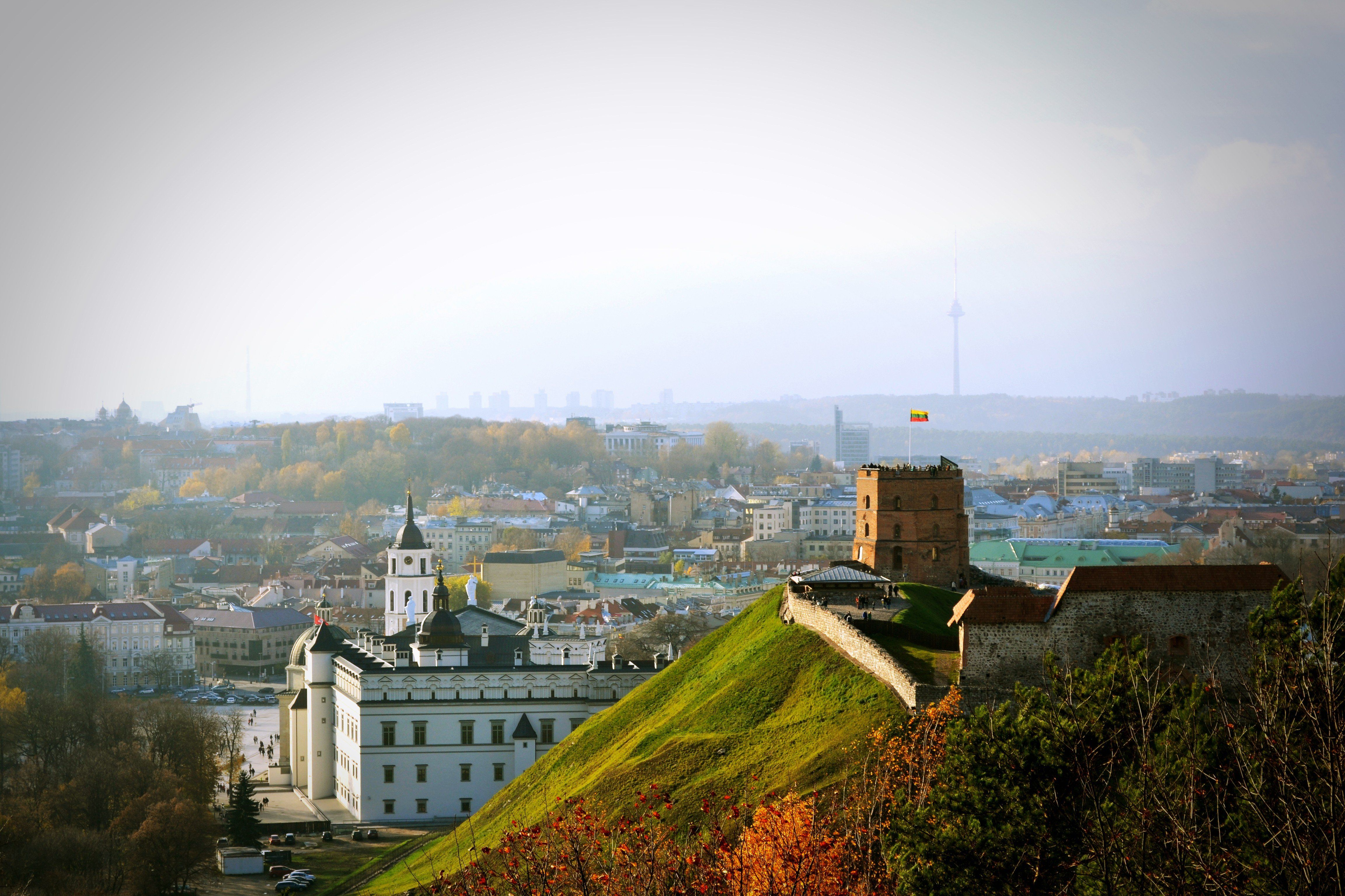 Lithuania Vilnius Cities Cityscapes Morning Point Of View ...