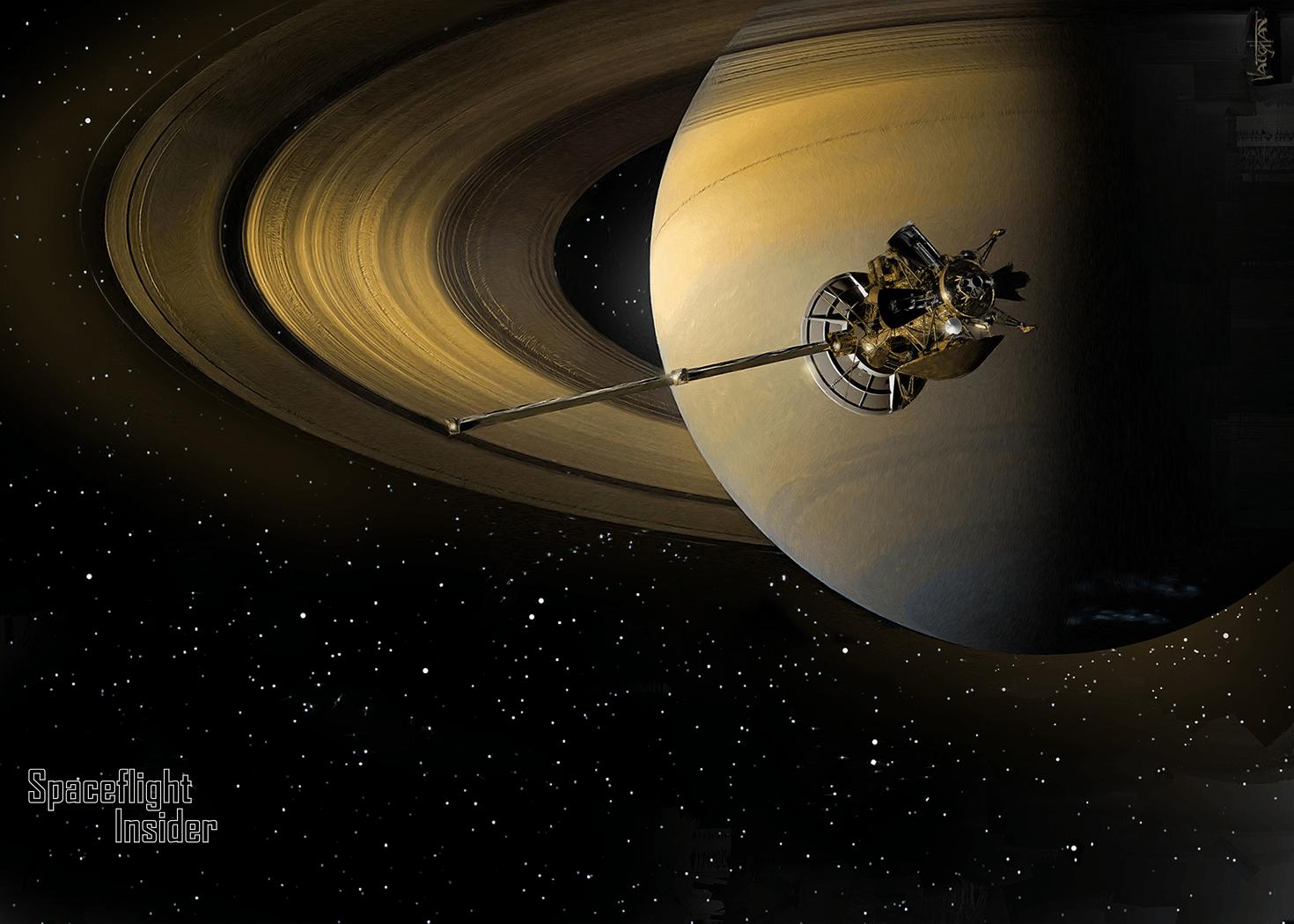 saturn cassini spacecraft - HD1470×1050