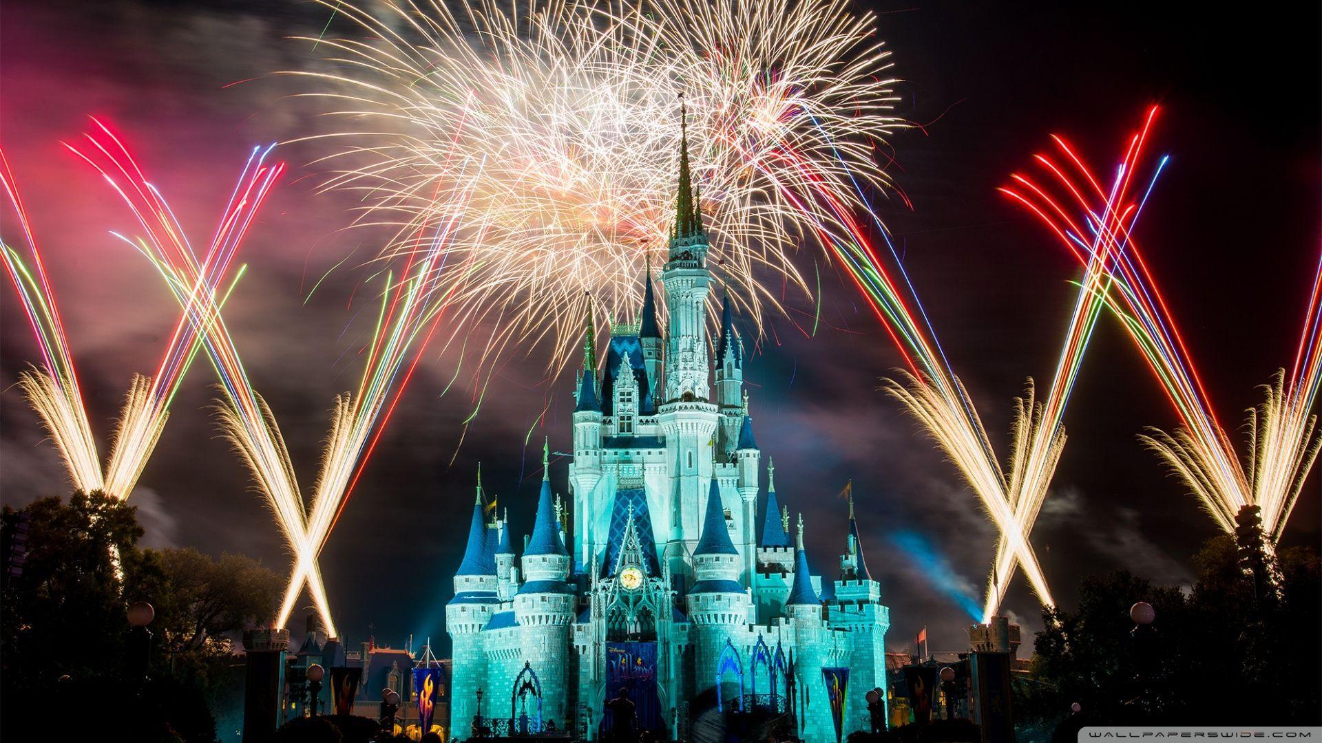 Magic Kingdom Fireworks 4K HD Desktop Wallpaper For Ultra