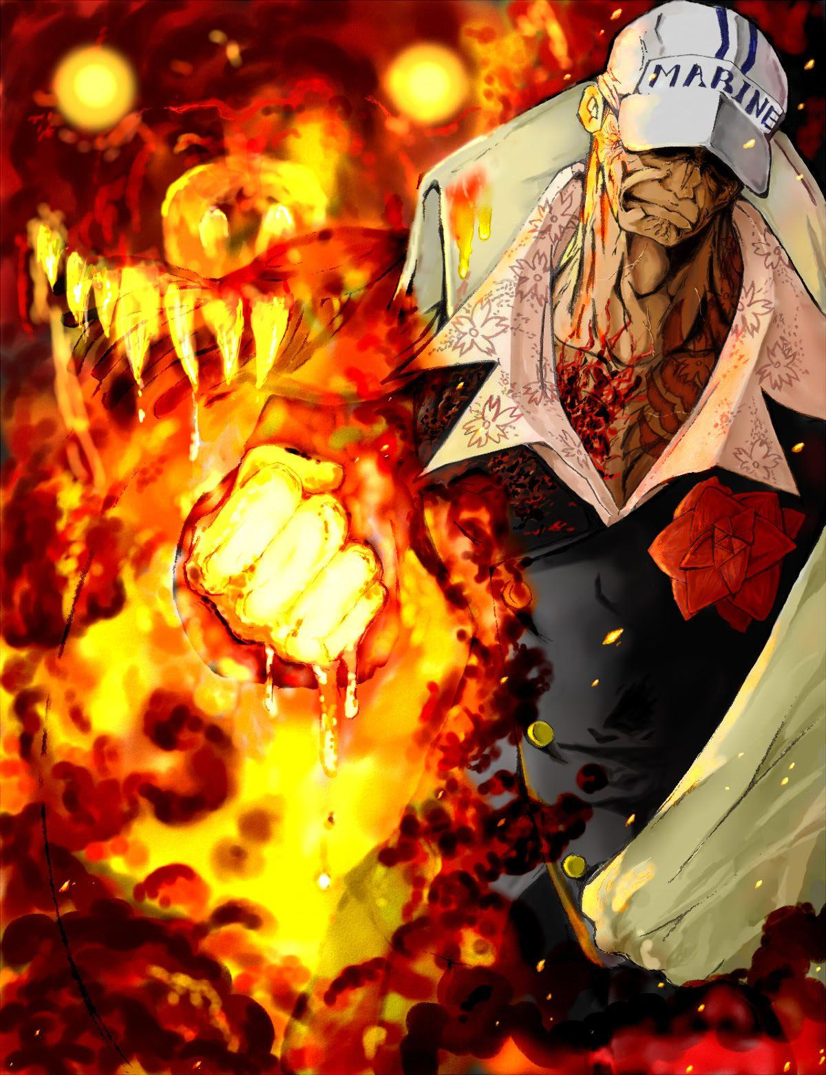 Wallpaper E Piece Akainu