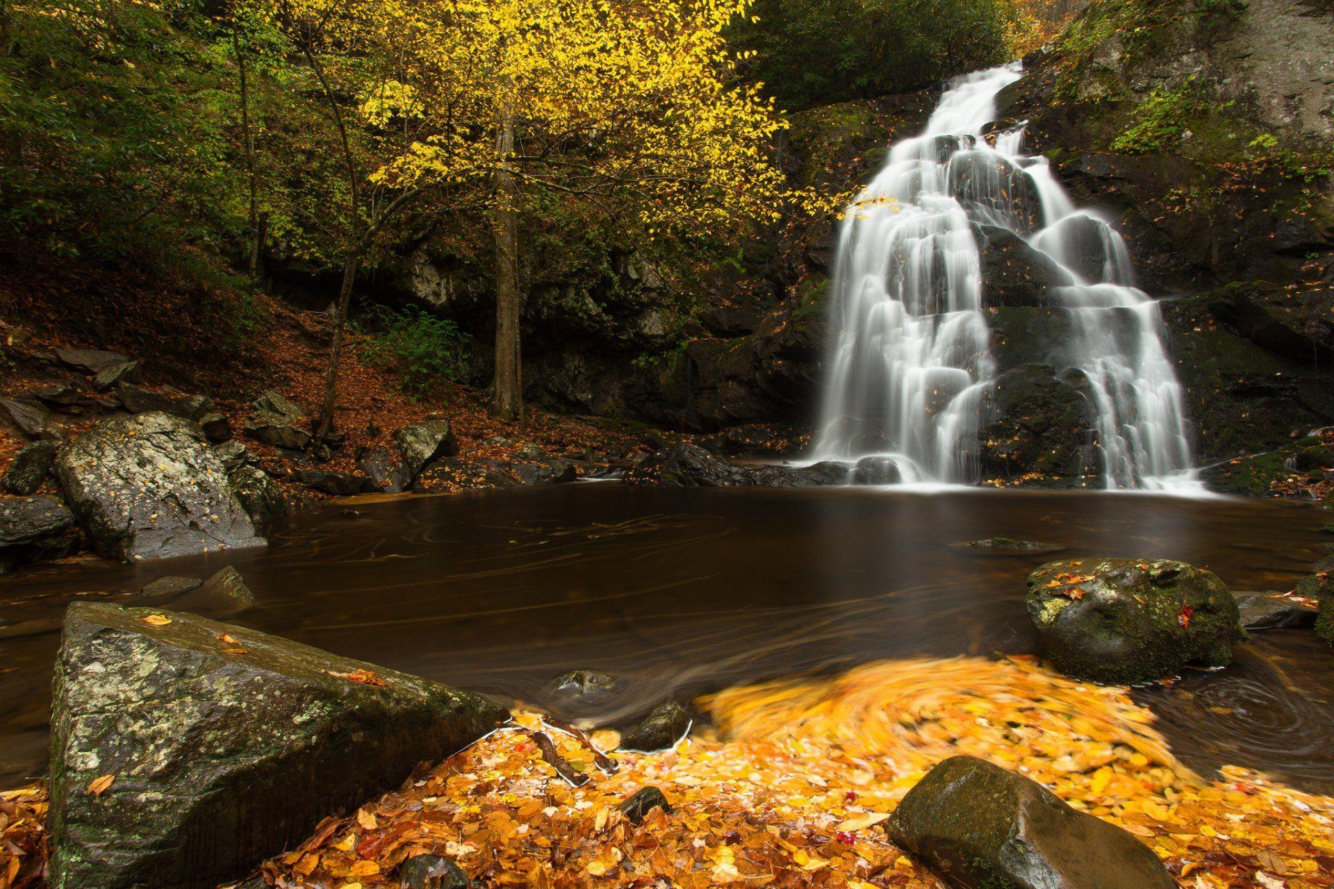 spruce flats falls great smoky mountains national park tennessee ...