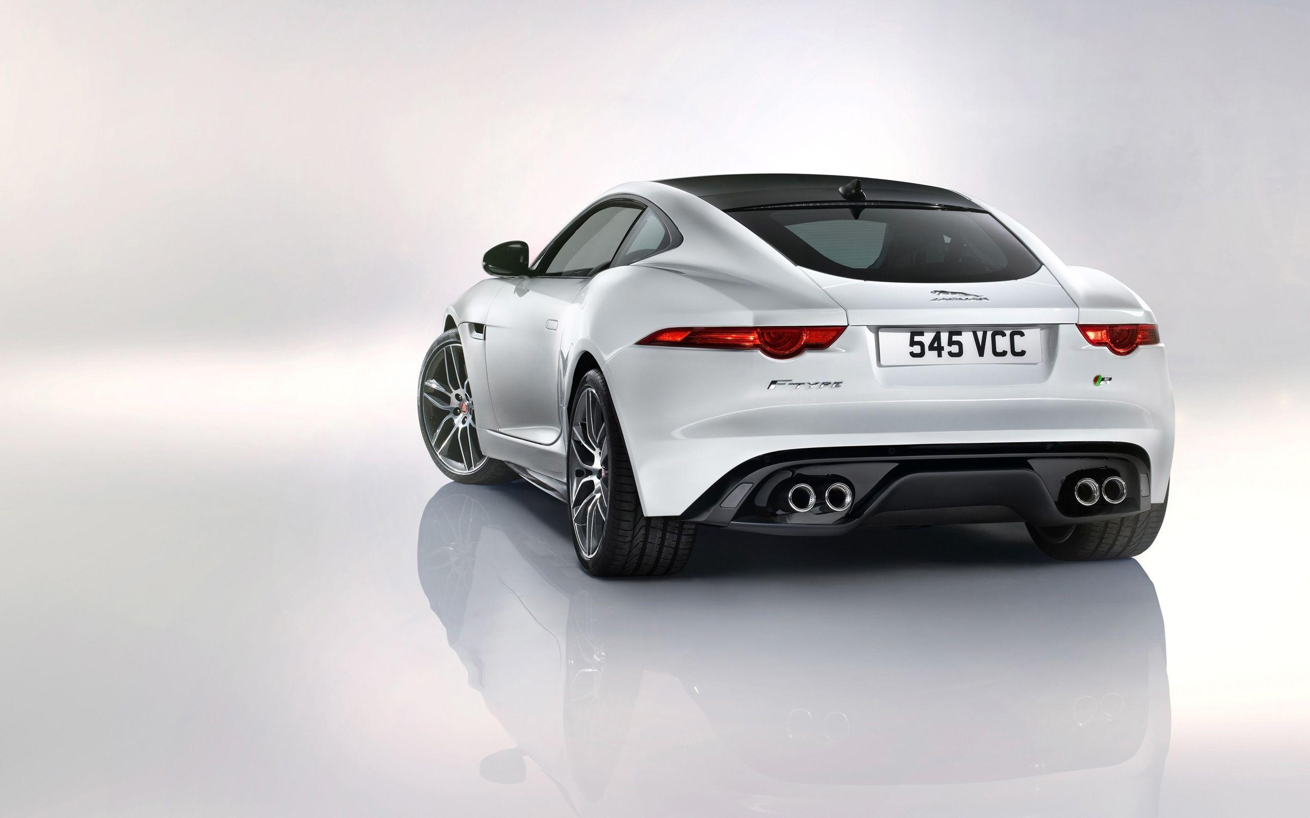 2014 Jaguar F Type R Coupe White 2 Wallpapers
