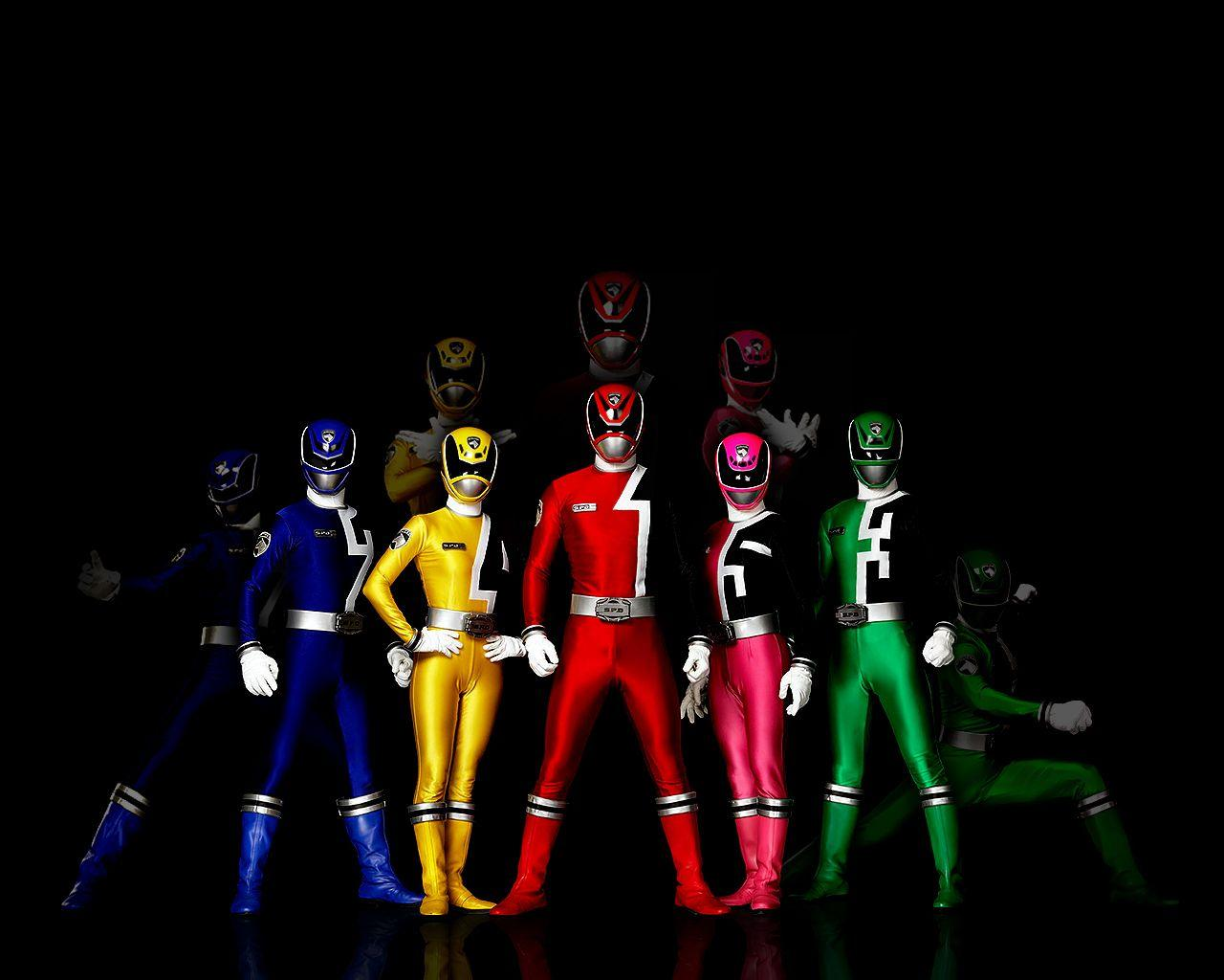 Power Rangers Teams Background