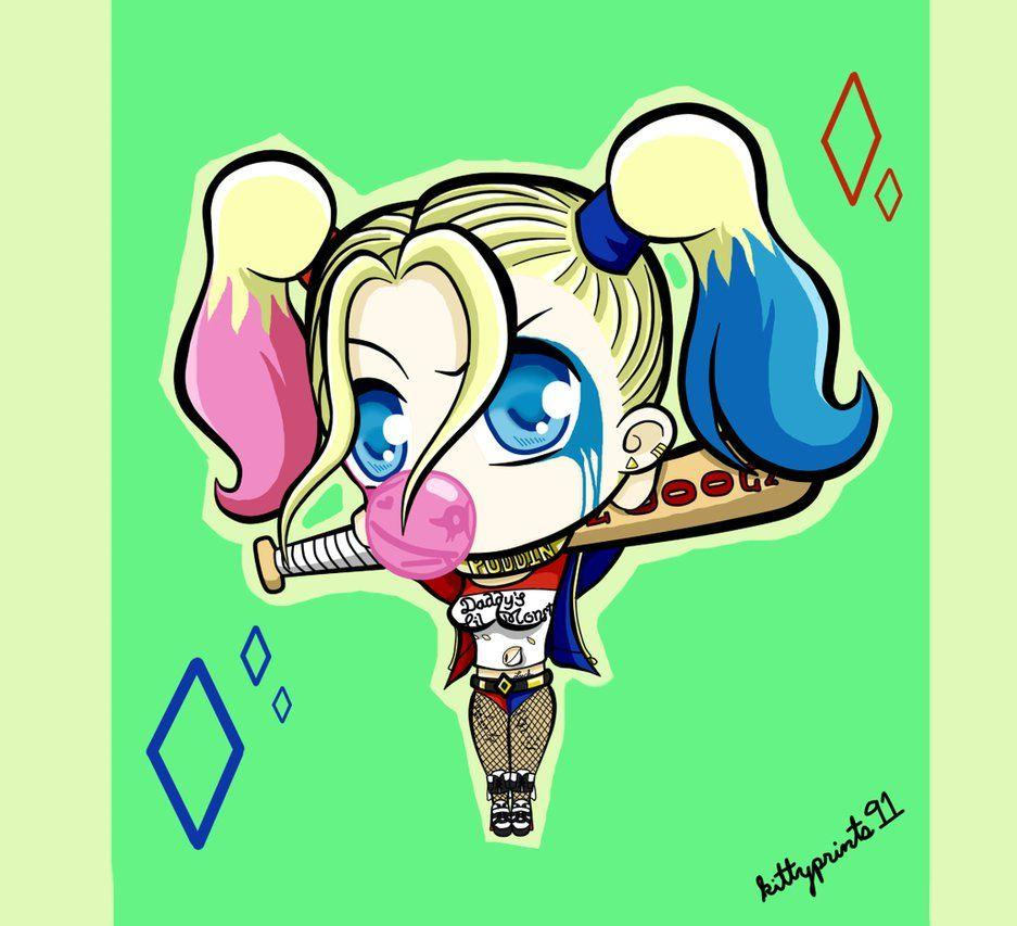 Harley Quinn Drawing: Chibi Harley Quinn Wallpapers