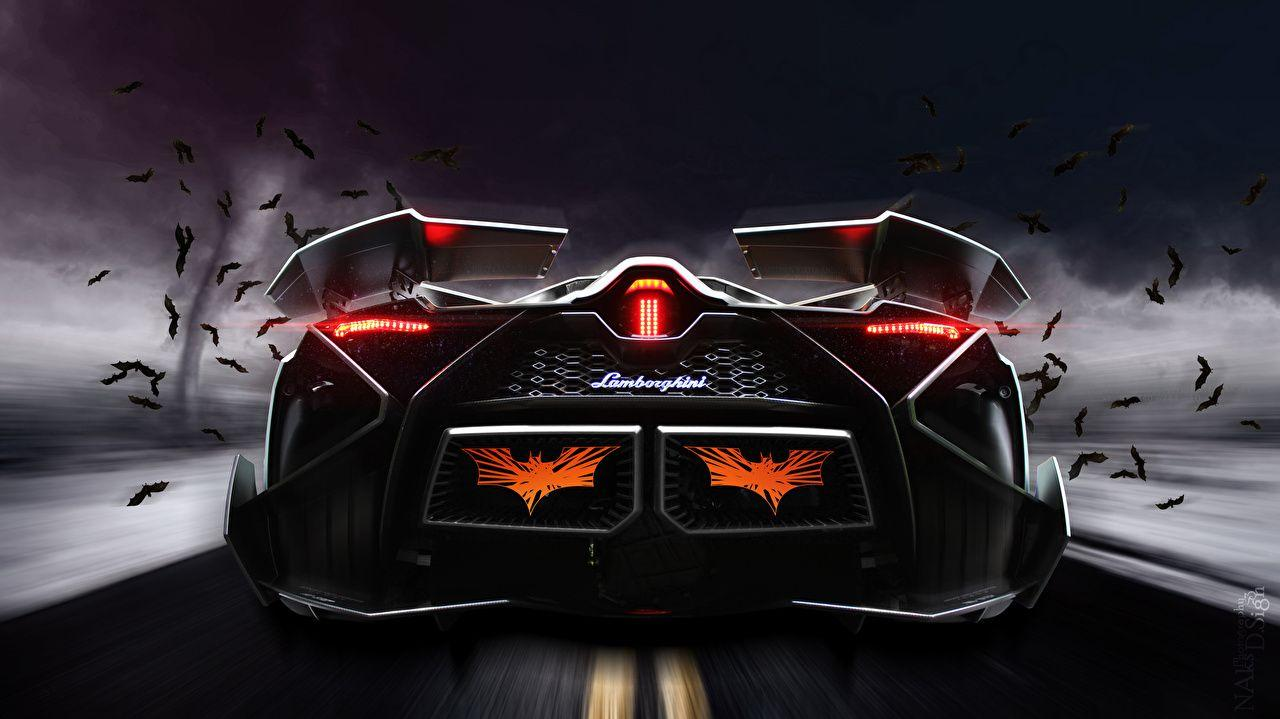 Wallpaper Lamborghini Egoista Luxury Cars Back View