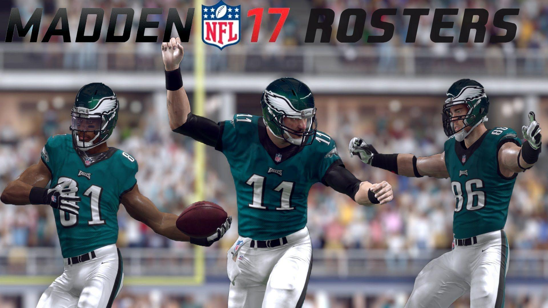 CARSON WENTZ'S 100% COMPLETION! EAGLES SUPERSTAR IN MADDEN 17 ...