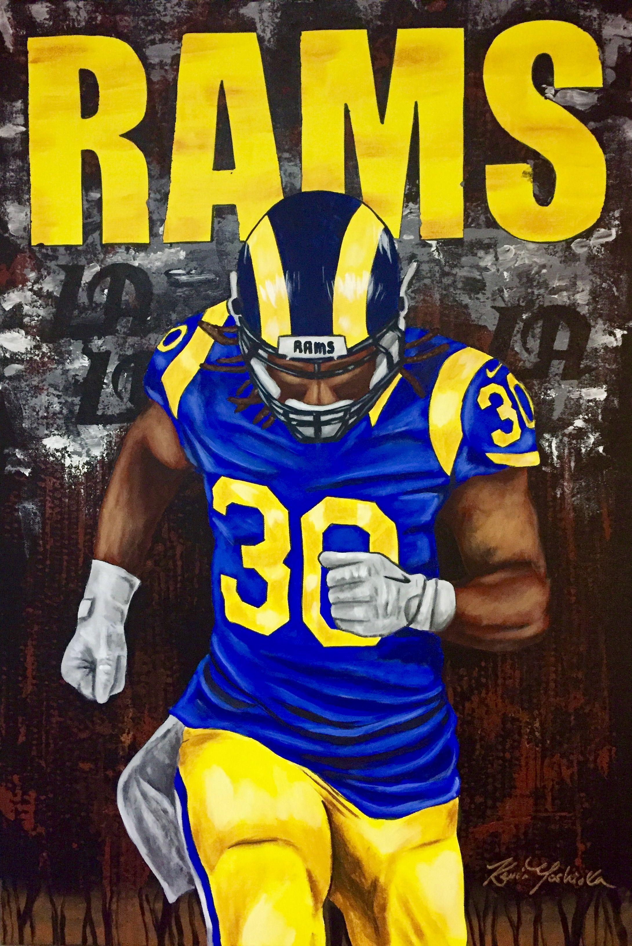 Todd Gurley LA Rams by whatevah32