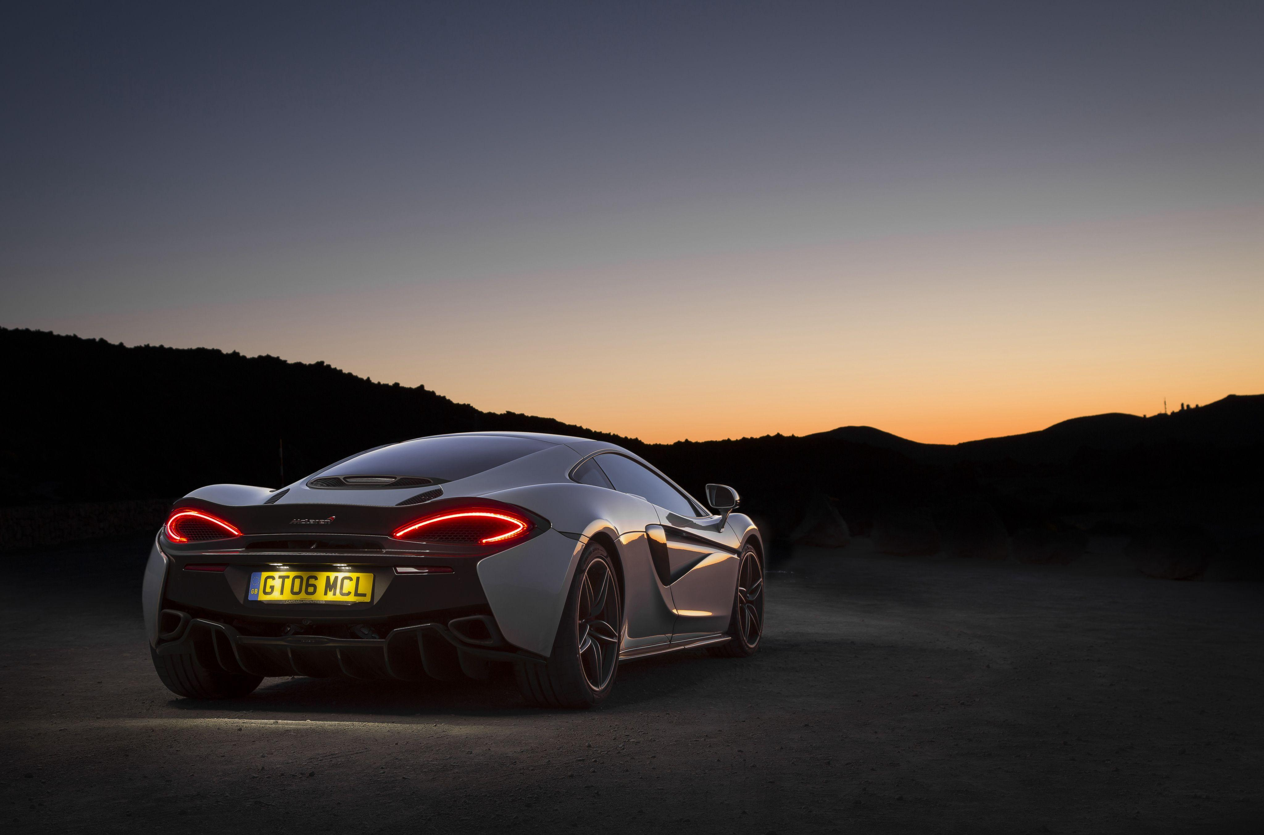 Picture McLaren 570GT Night Back view automobile 4096x2708