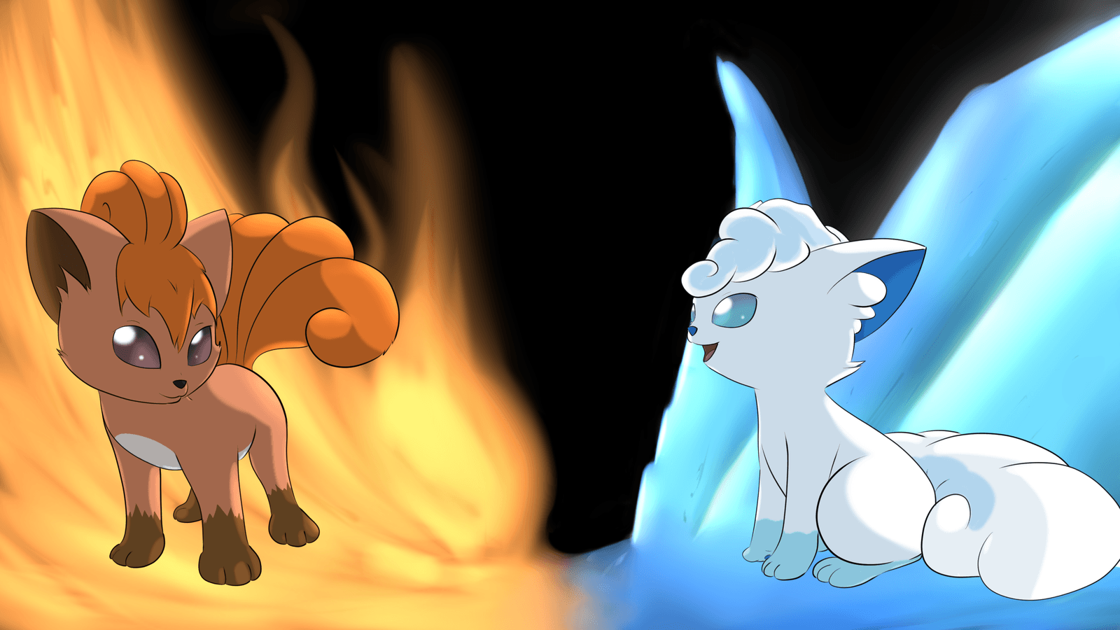 Vulpix fire and ice wallpaper by JollyThinker on DeviantArt