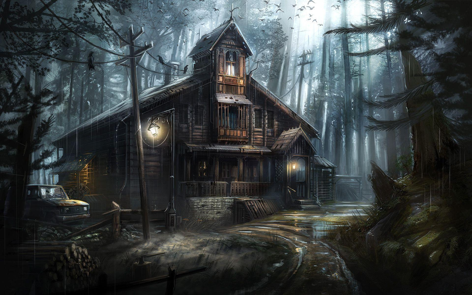 Ghost House Wallpapers Wallpaper Cave