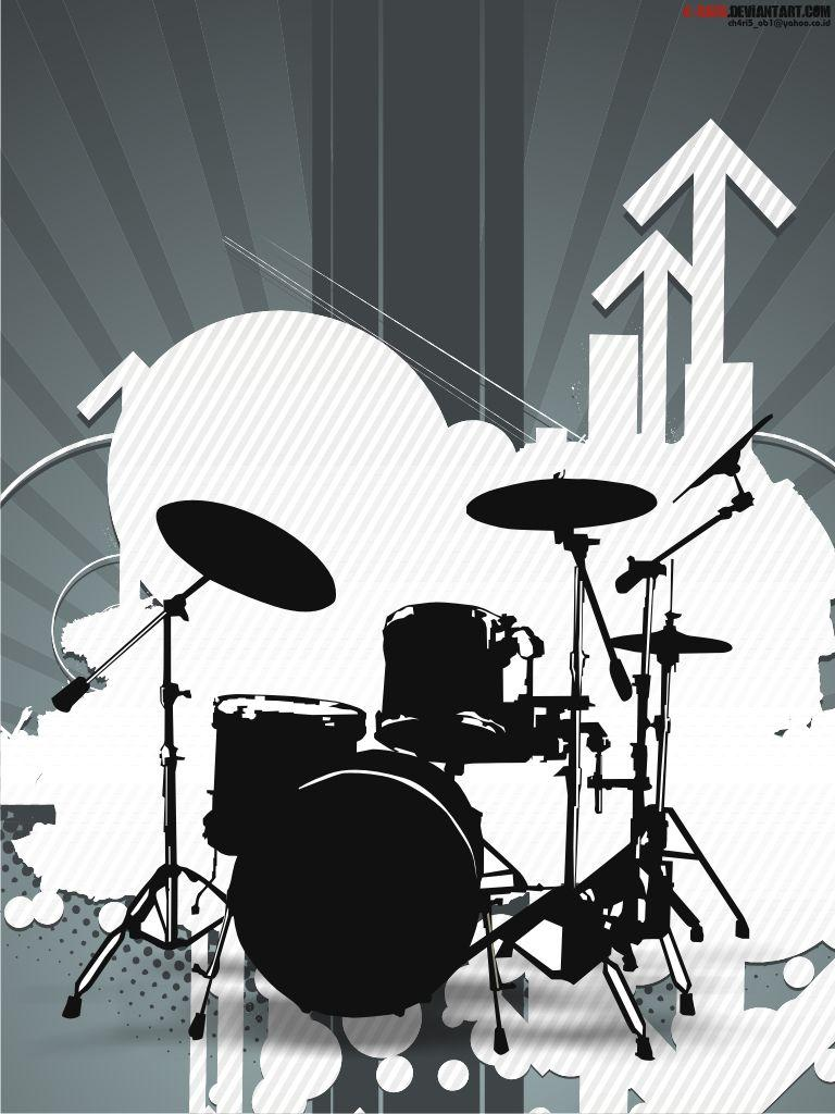 Blue Drum Set Wallpapers