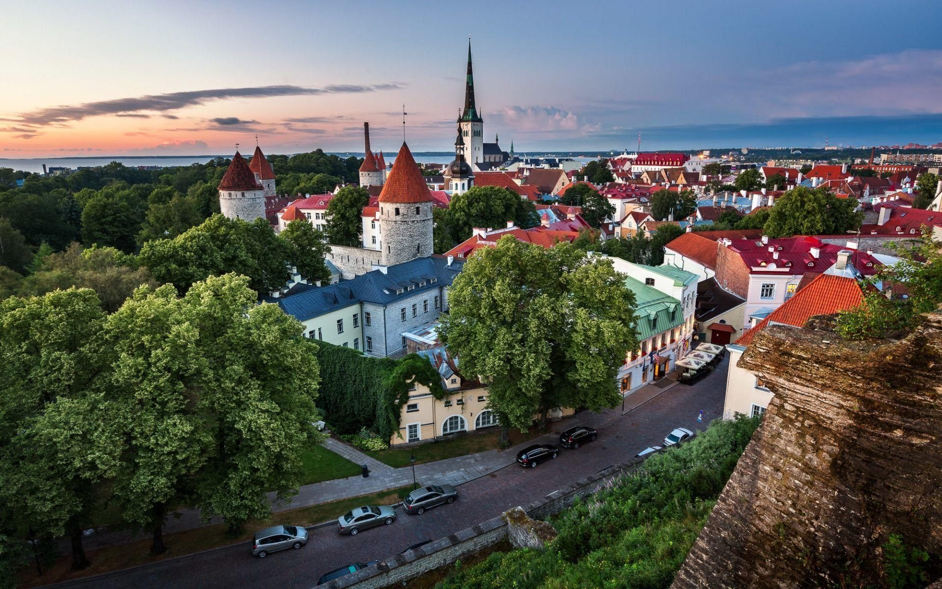 Tallinn Estonia Old Town Wallpapers HD Download Desktop