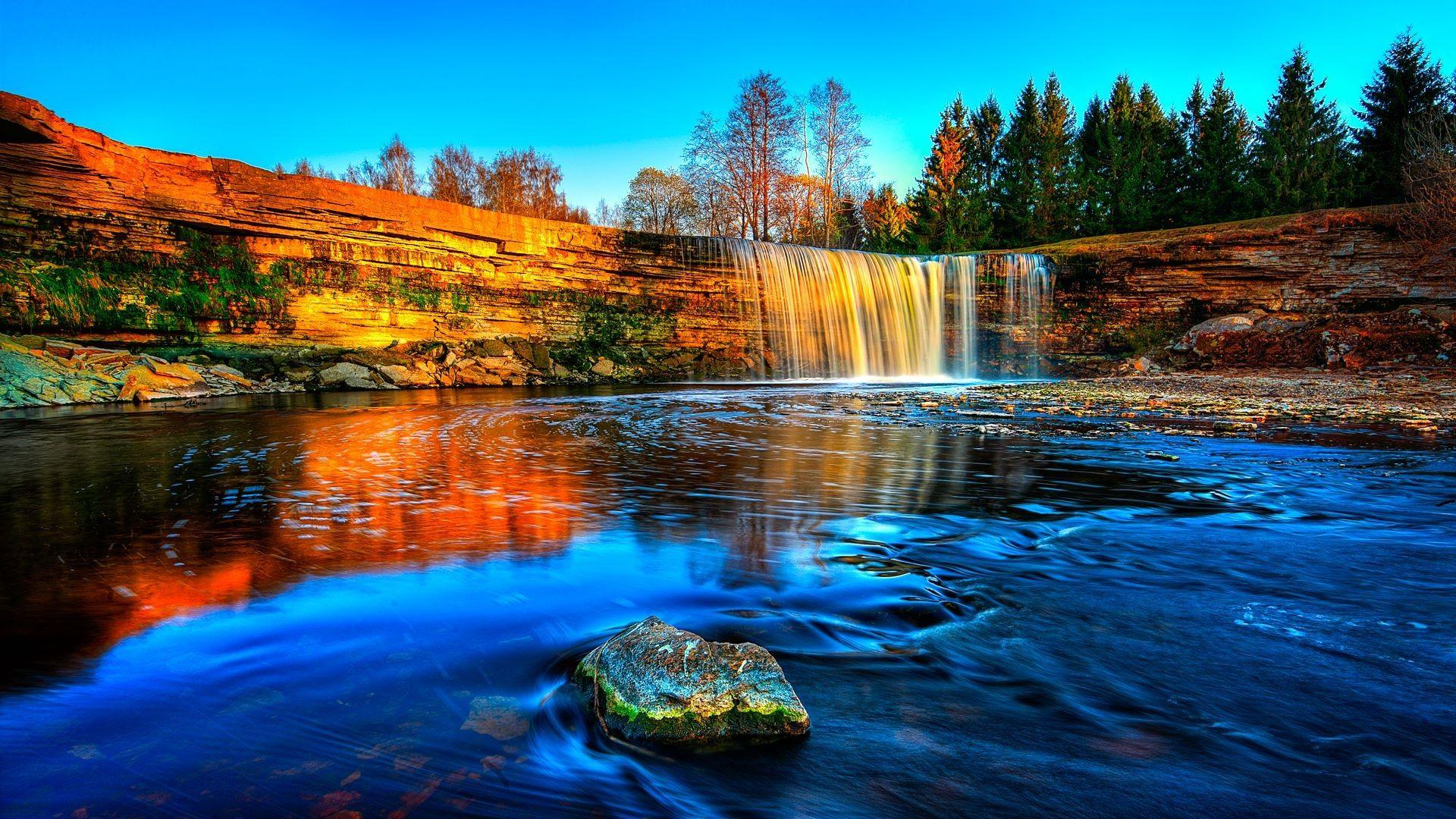 Waterfall in Estonia [1920x1080] : wallpapers