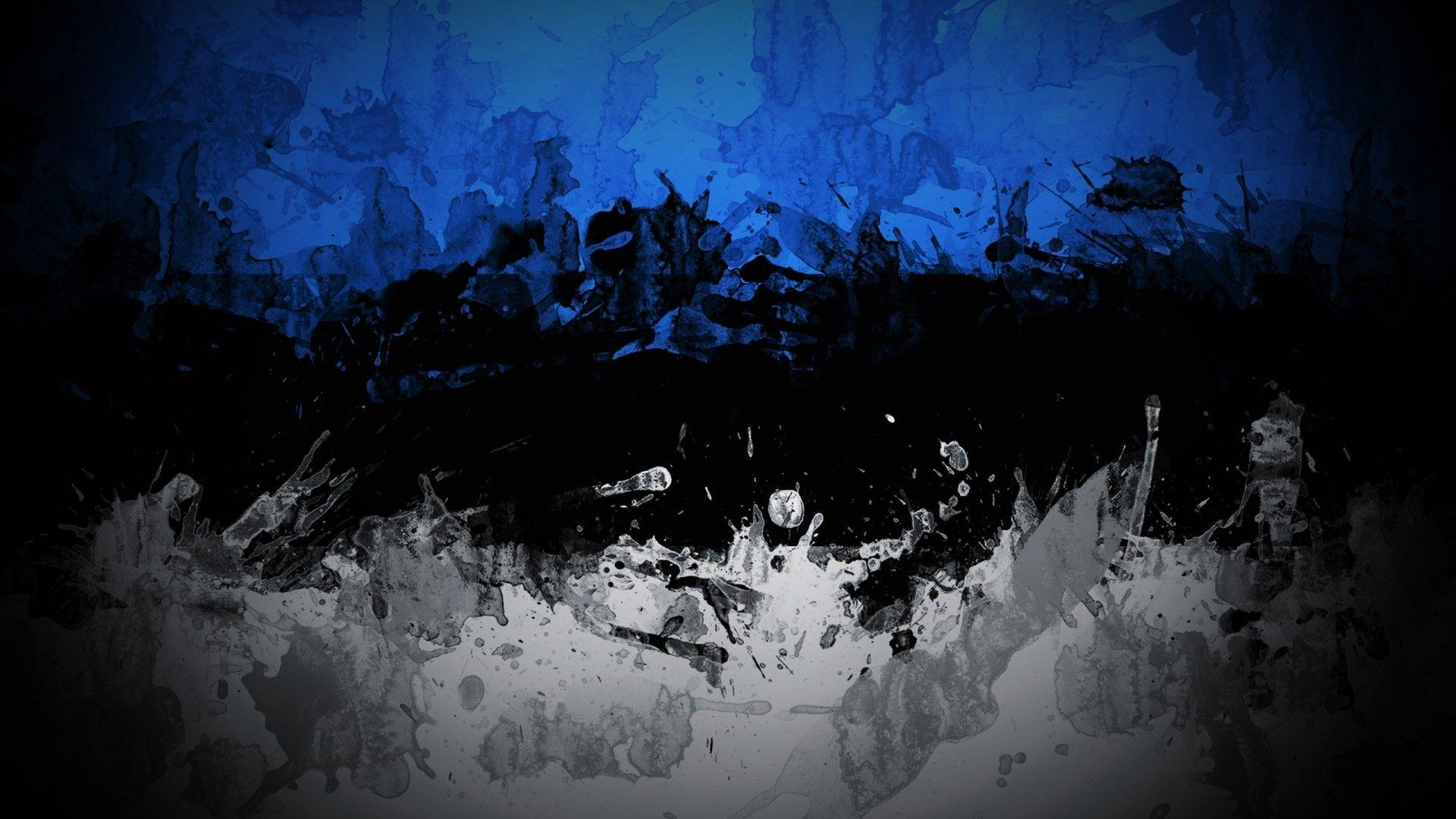 abstract, Blue, Dark, Black, White, Colorful, Estonia Wallpapers