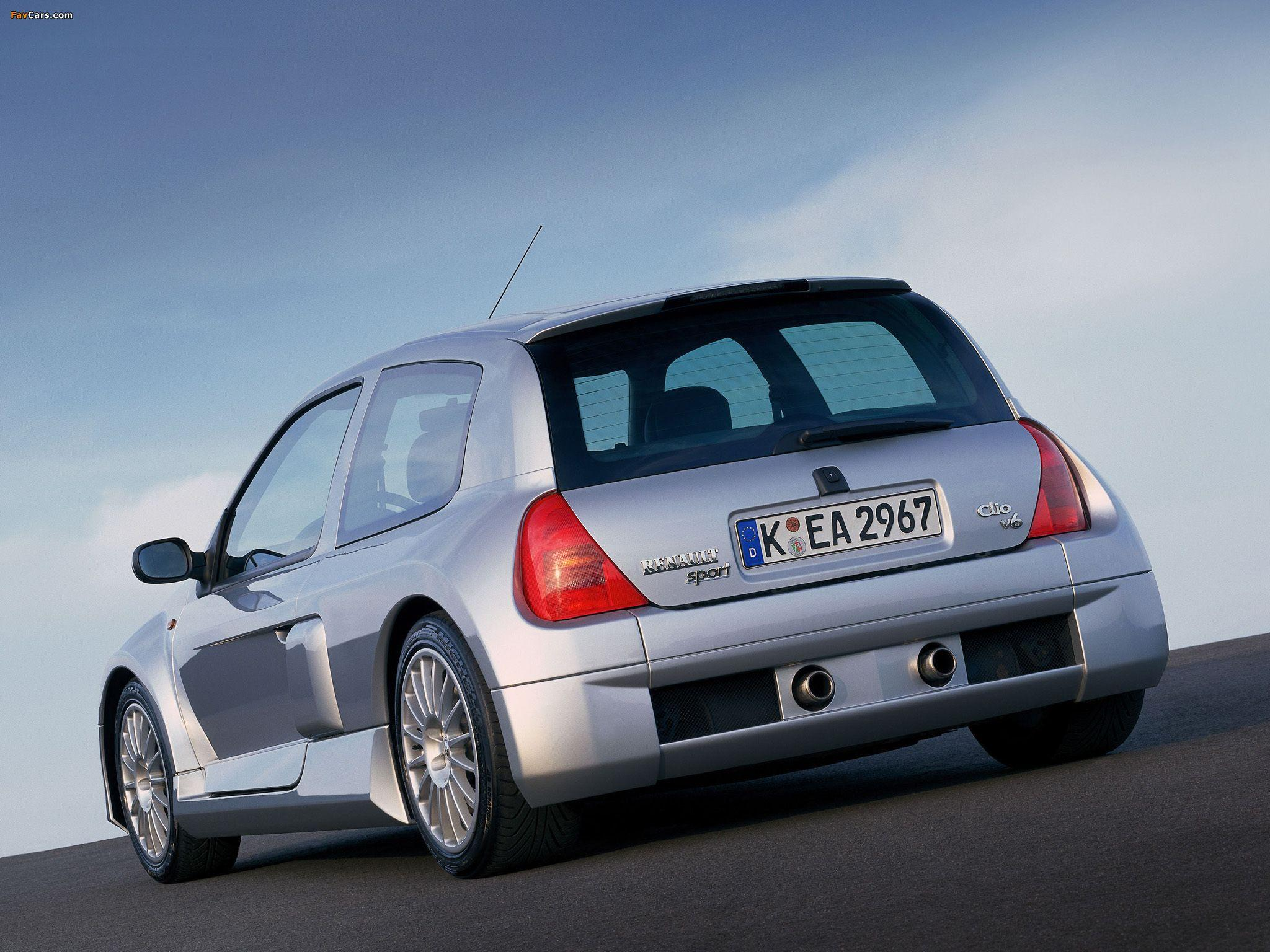 Clio V6 Sport 1999–2001 wallpapers