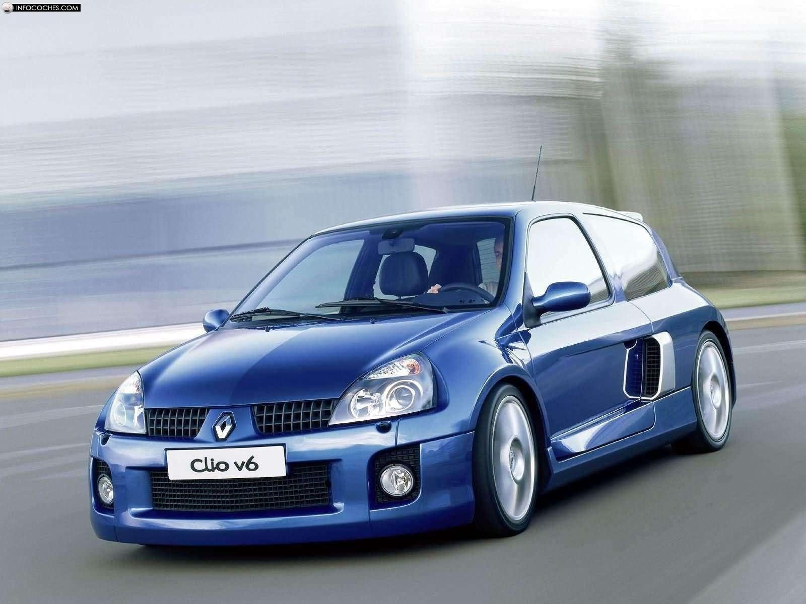 Cars vehicles Renault Clio Renault sports cars Renault Clio V6