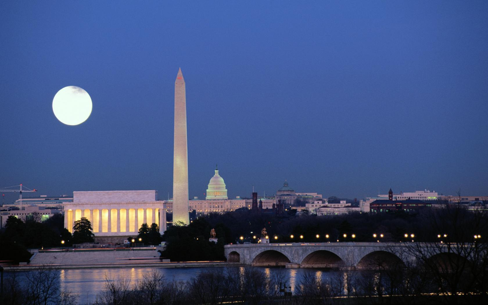 Washington Monument Moon Wallpaper by HD Wallpapers Daily