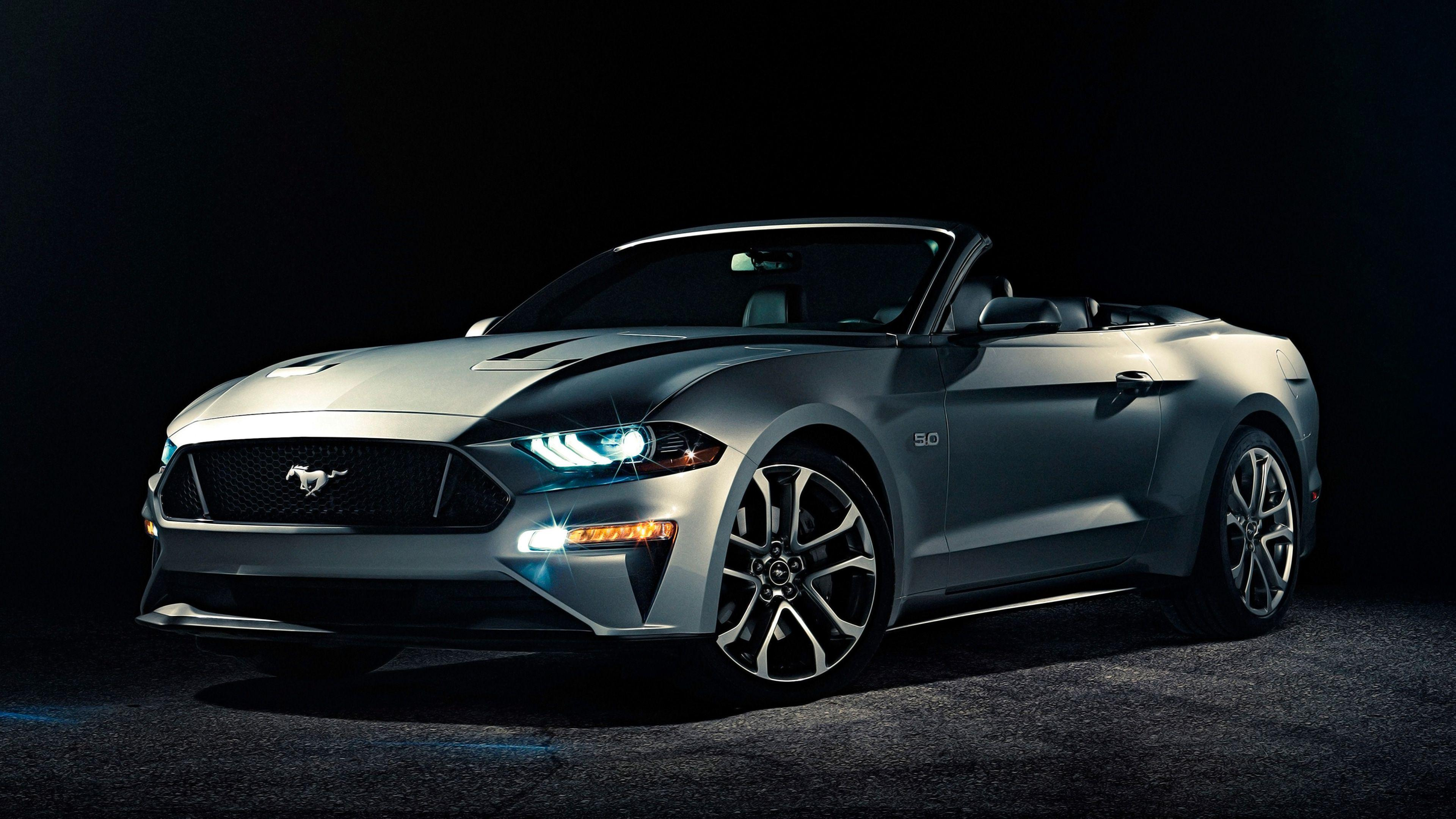 2018 Ford Mustang Convertible 4K Wallpapers