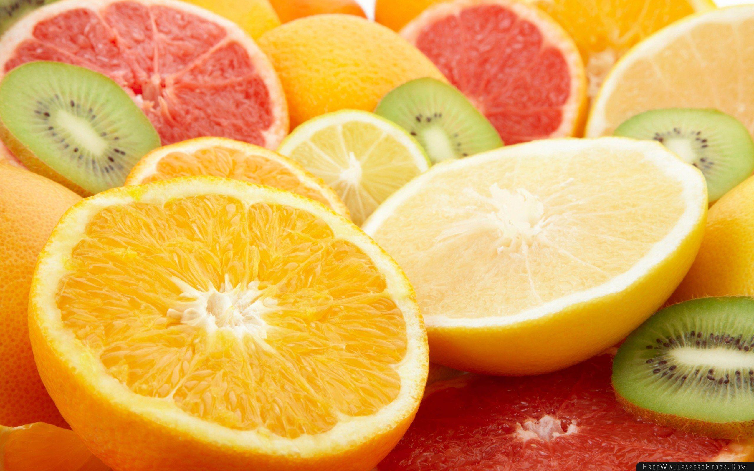 Обои на рабочий стол лимоны и апельсины