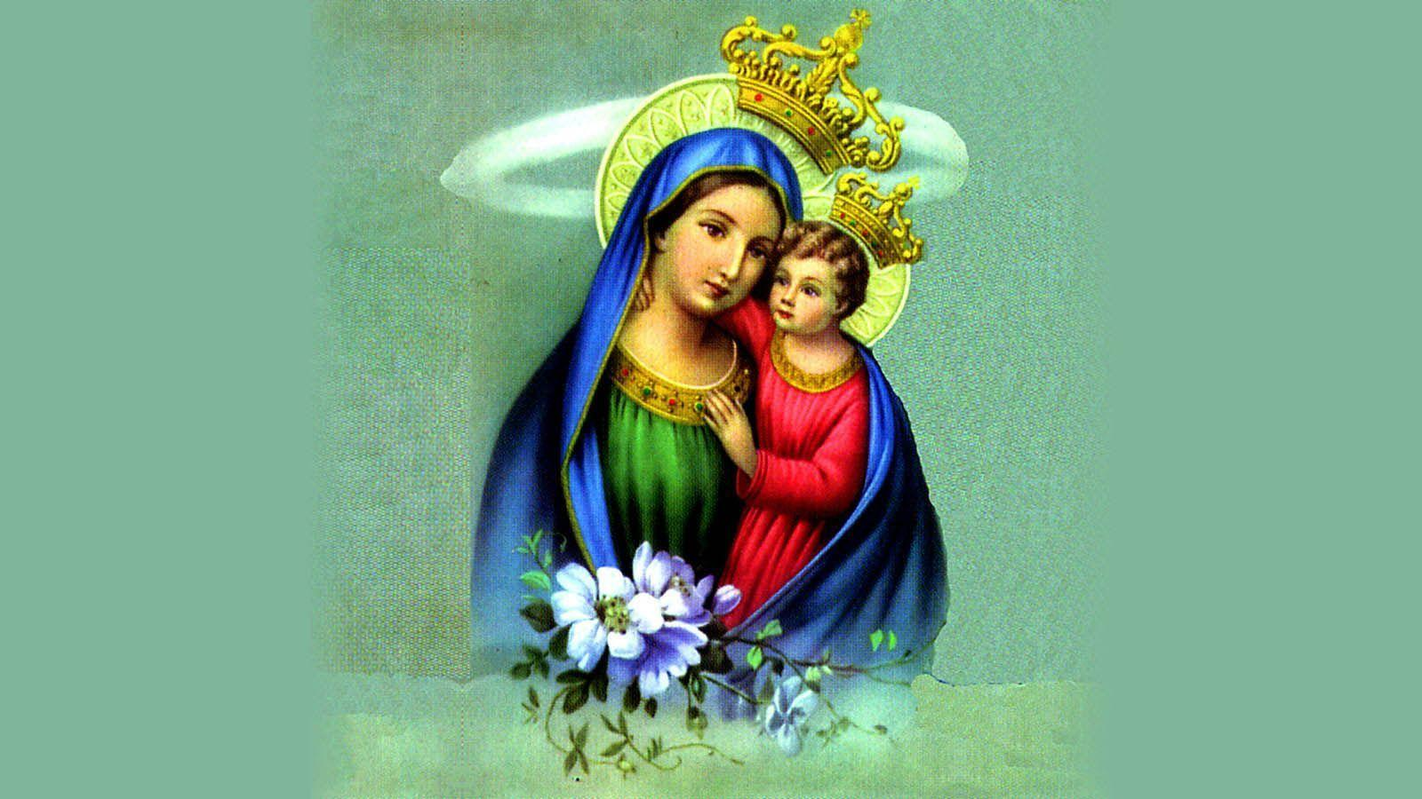 baby jesus with mother mary wallpapers