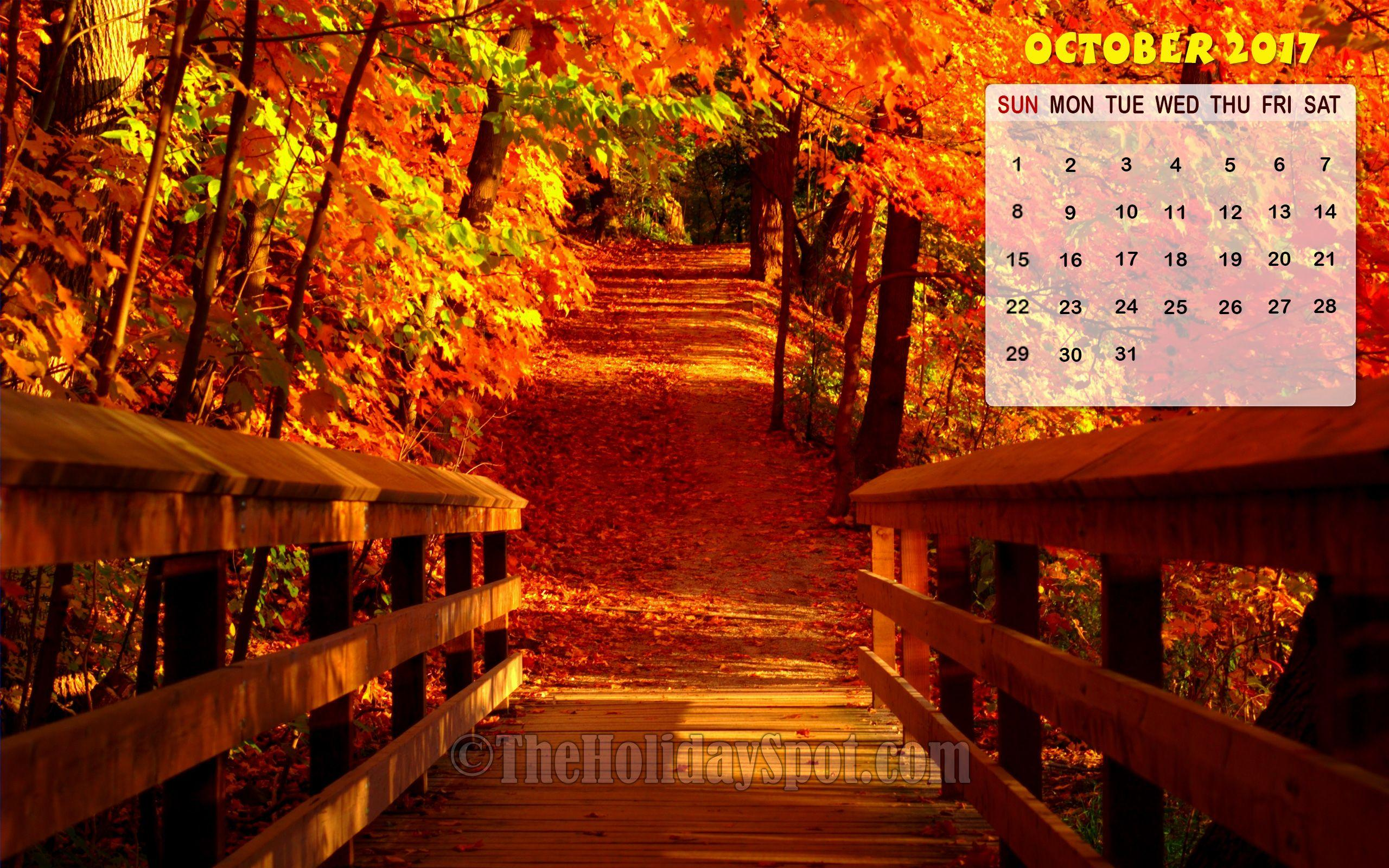 Month wise Calendar Wallpapers of 2017