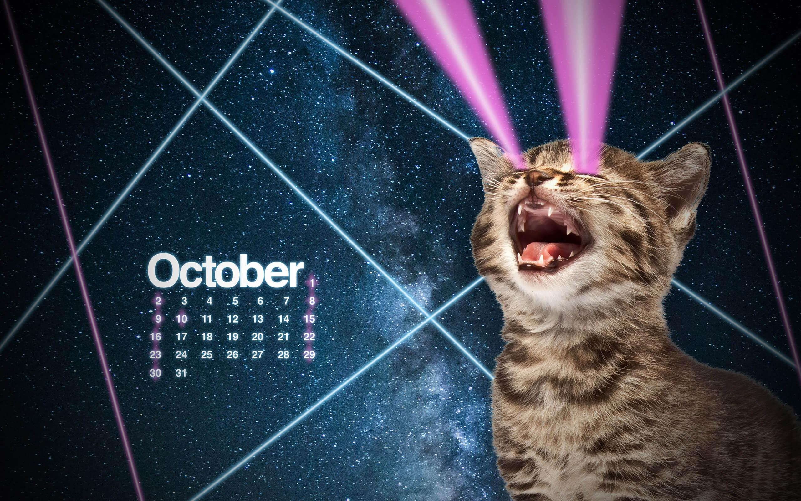 October 2016 Desktop Calendar Wallpapers