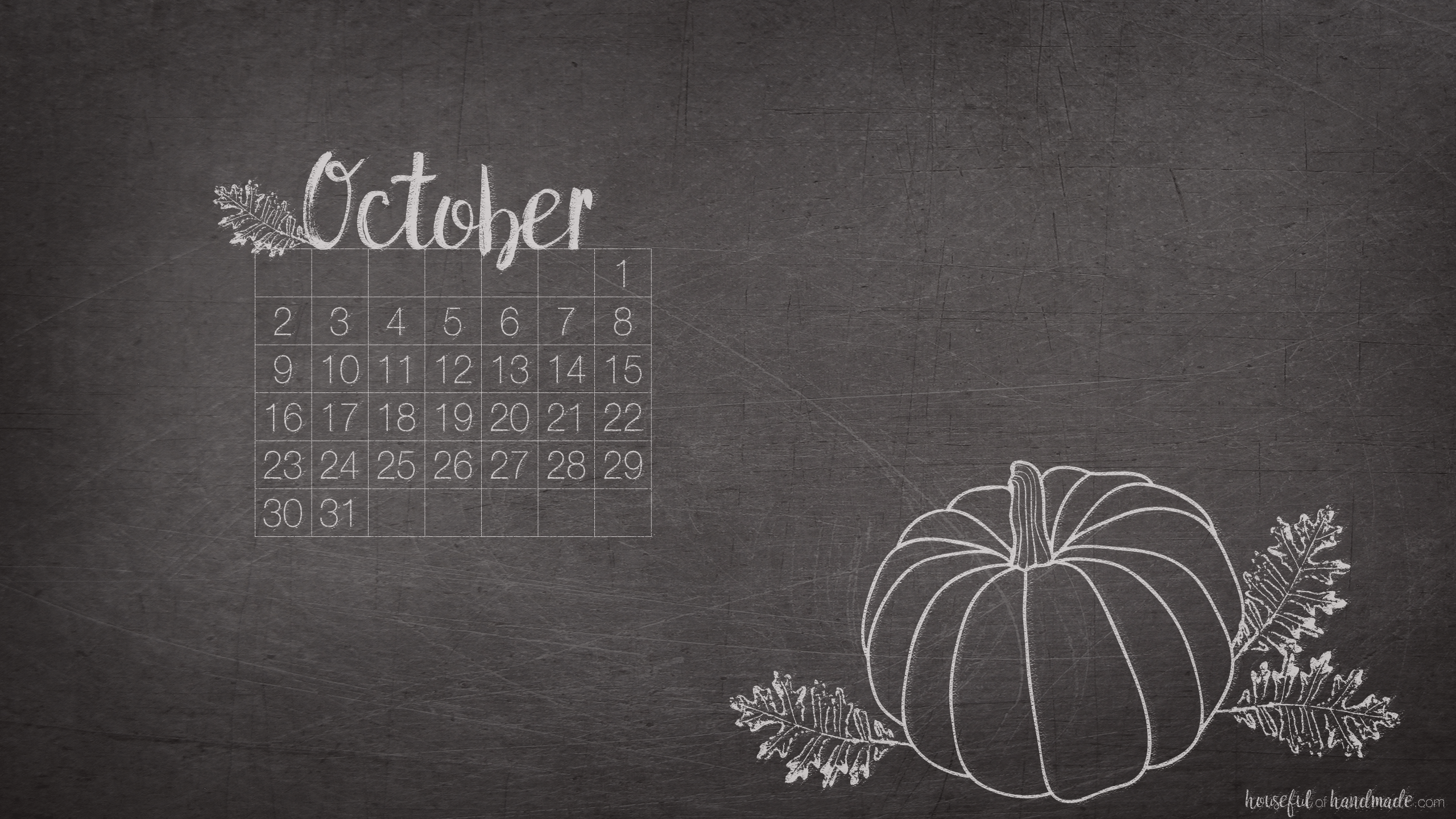 Free Digital Backgrounds for October