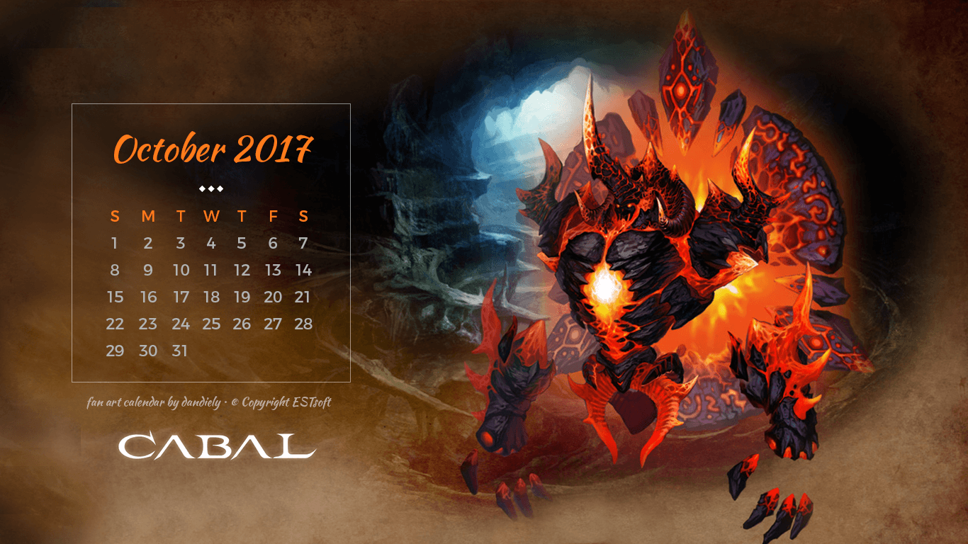 Cabal Online PH Blog by dandiely: 2017 Calendar