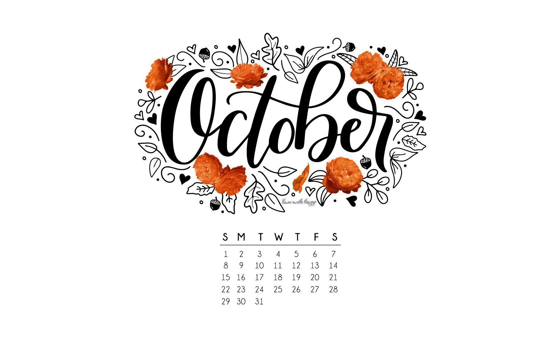 October 2017 Printable Calendar + Tech Pretties