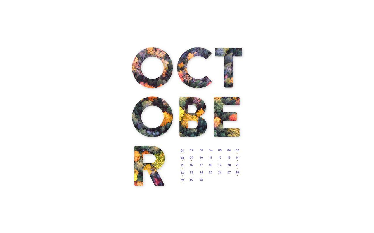 October 2017 Desktop Calendar Wallpapers
