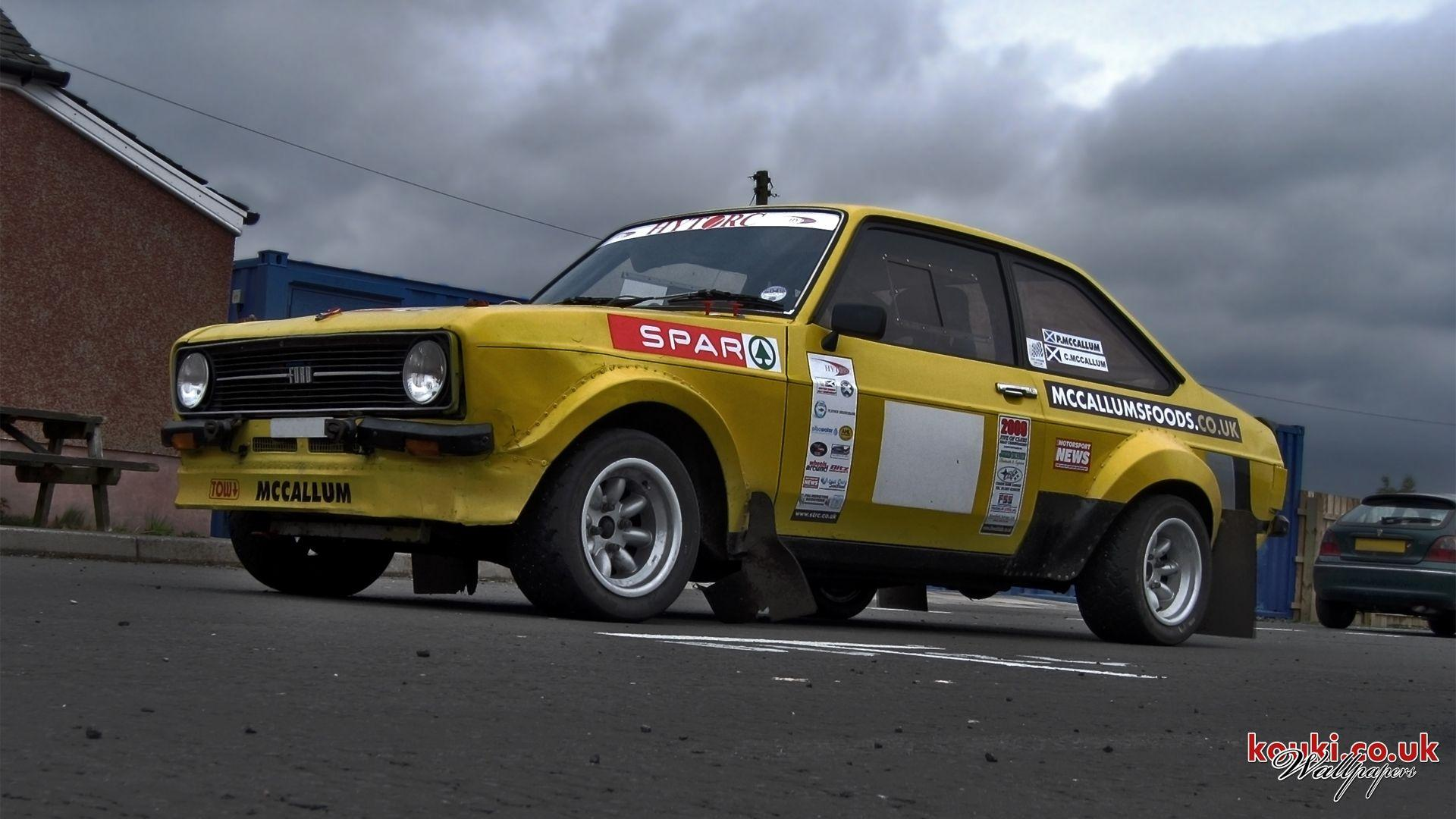 Wallpaper: MK2 Ford Escort at Kames Trackday