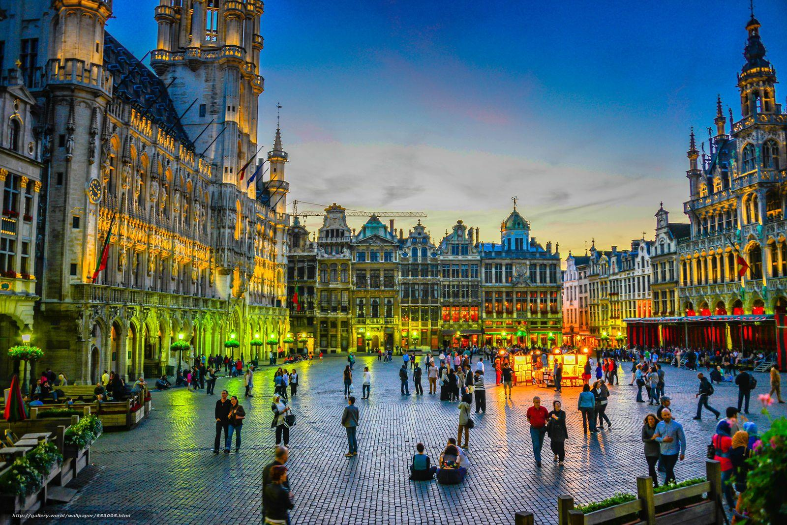Download wallpapers Grand Place, Grote Markt, Brussels, Belgium