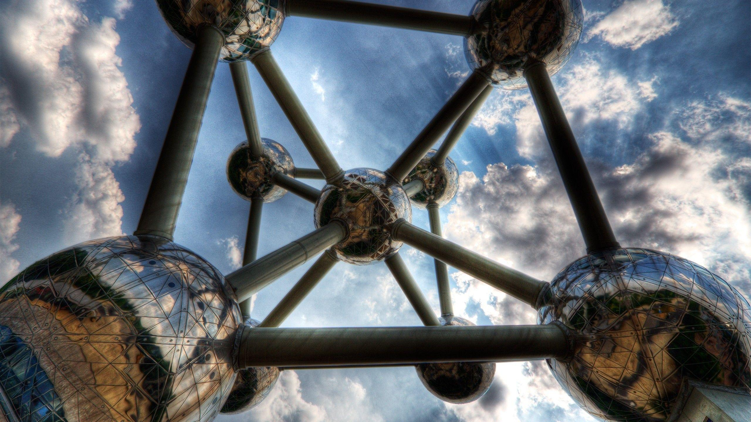 abstract, Atomium, Architecture, Belgium, Brussels Wallpapers HD