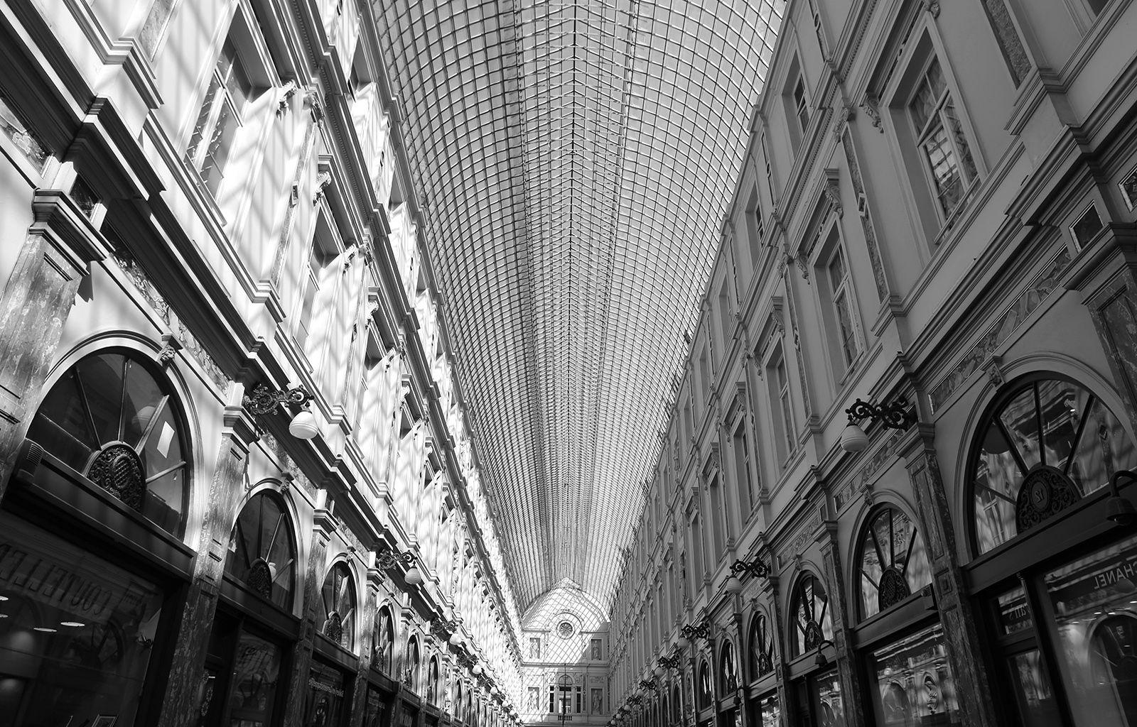 Black, And, White, Architecture, Shops, Brussels, Hd Grayscale